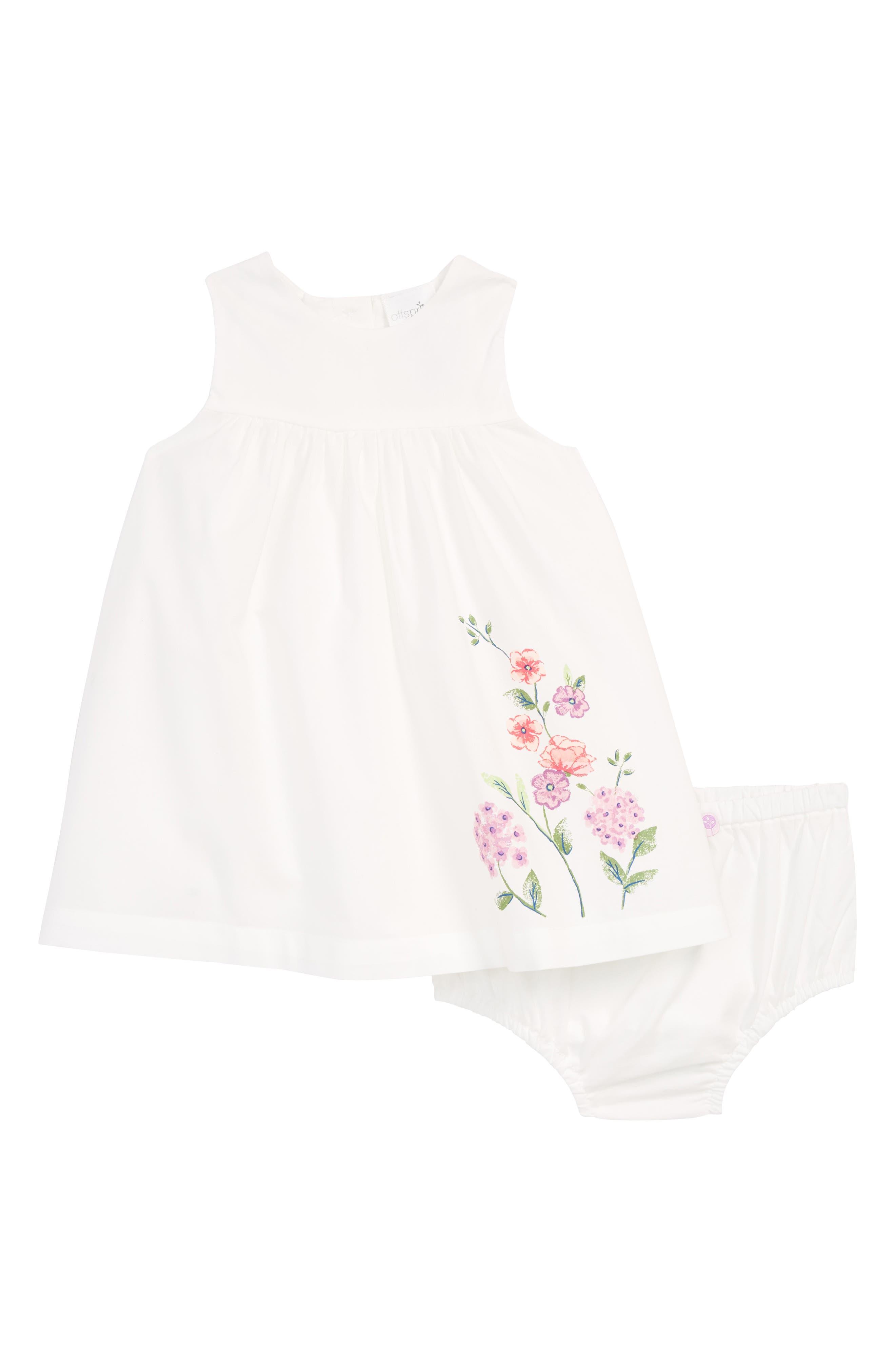 Blooms Dress & Bloomers,                         Main,                         color, Vanilla