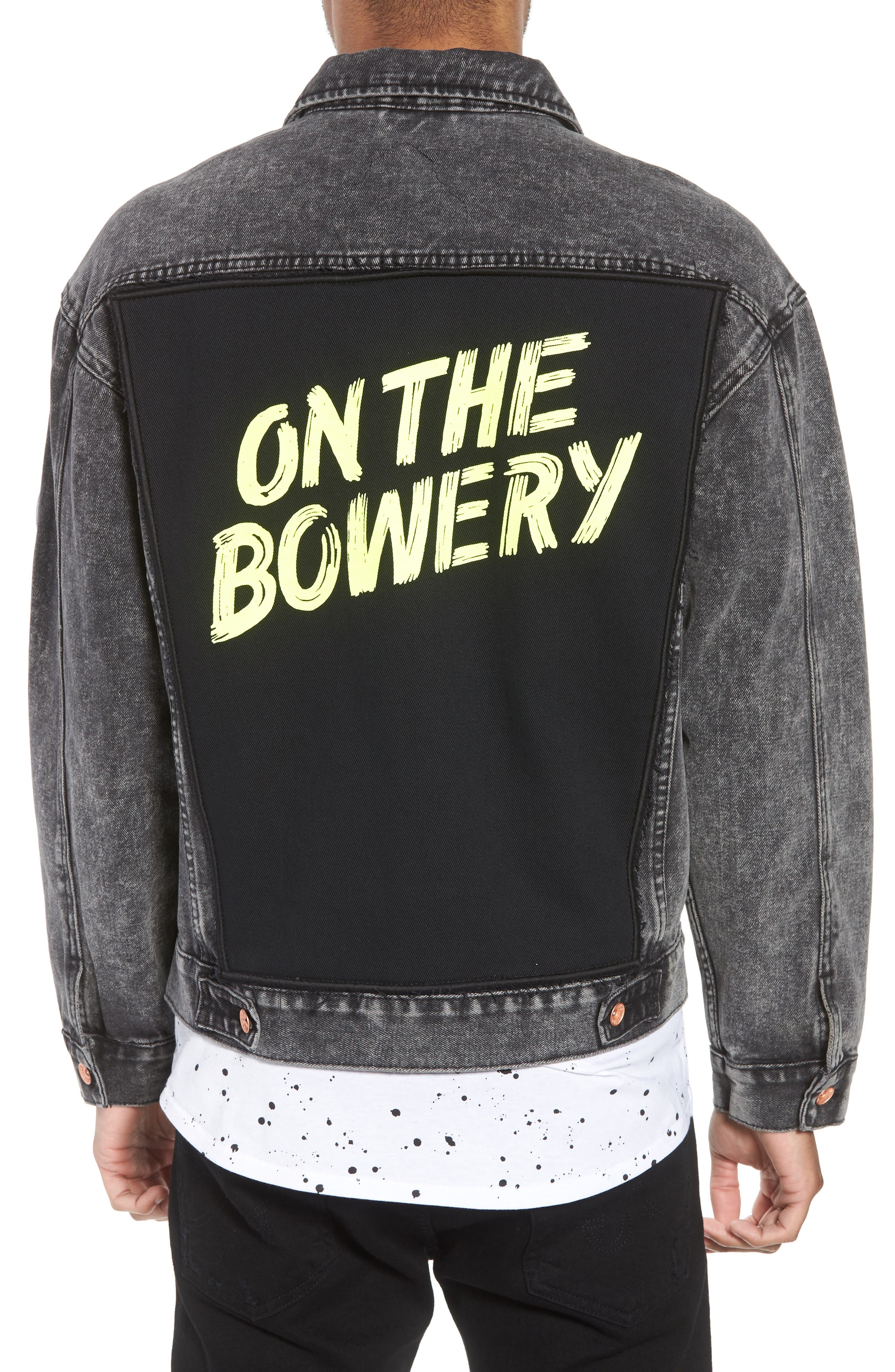 On the Bowery Denim Jacket,                             Alternate thumbnail 2, color,                             Grey Ghost