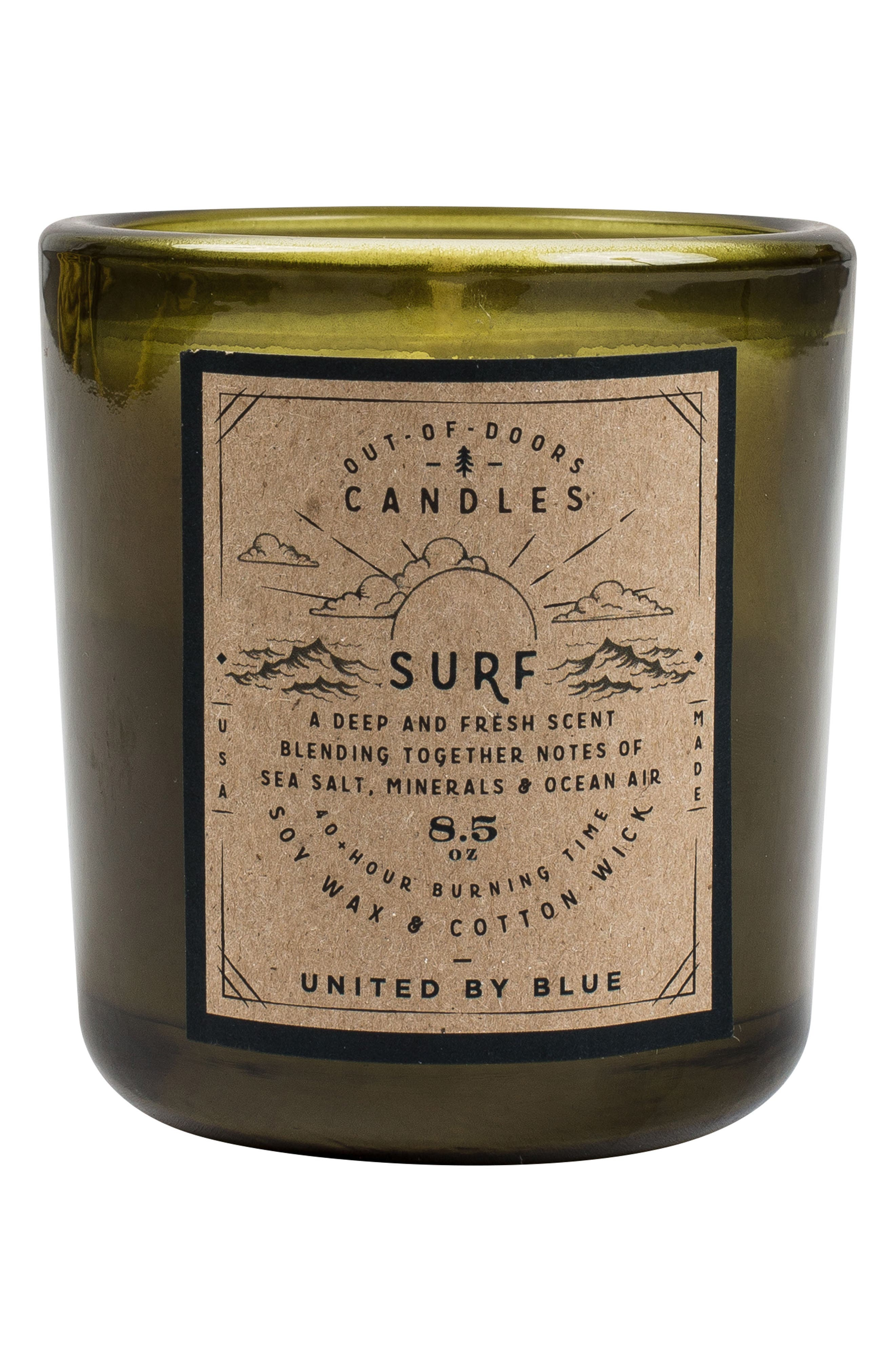 Surf Out of Doors Scented Candle,                             Main thumbnail 1, color,                             Surf 2