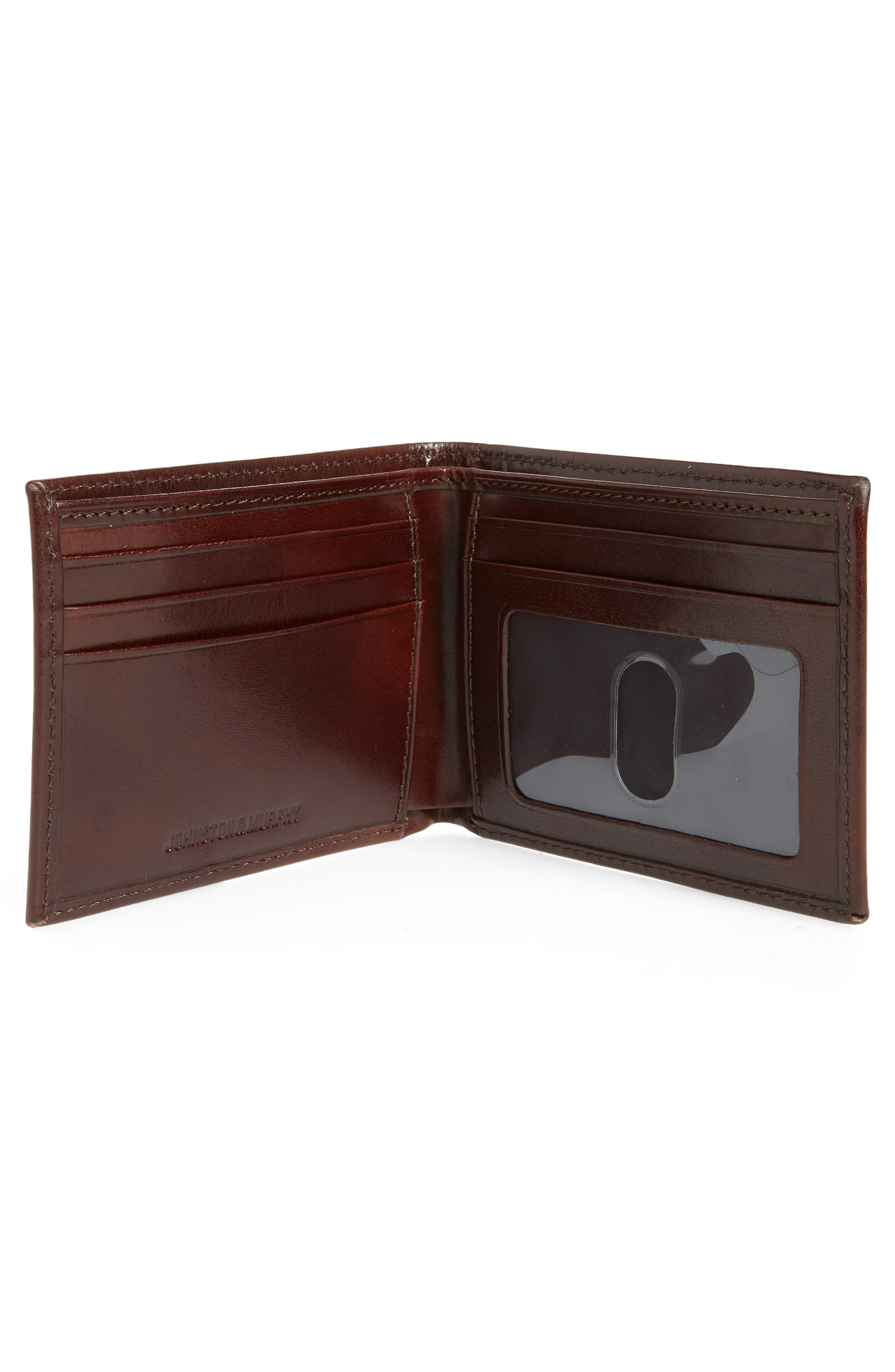 Slimfold Leather Wallet,                             Alternate thumbnail 3, color,                             Brown