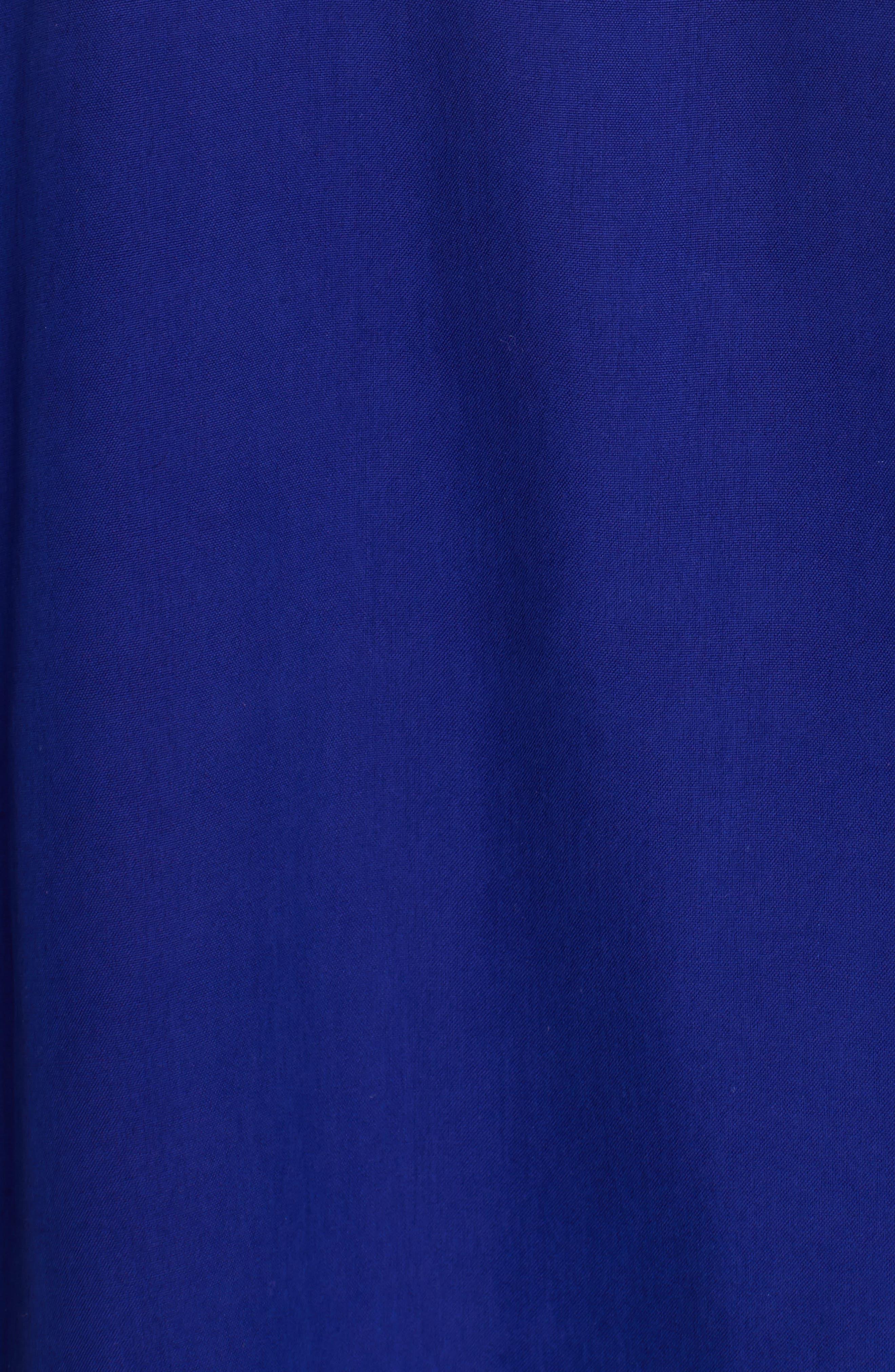 Tie Neck Silk Top,                             Alternate thumbnail 5, color,                             Blue Violet