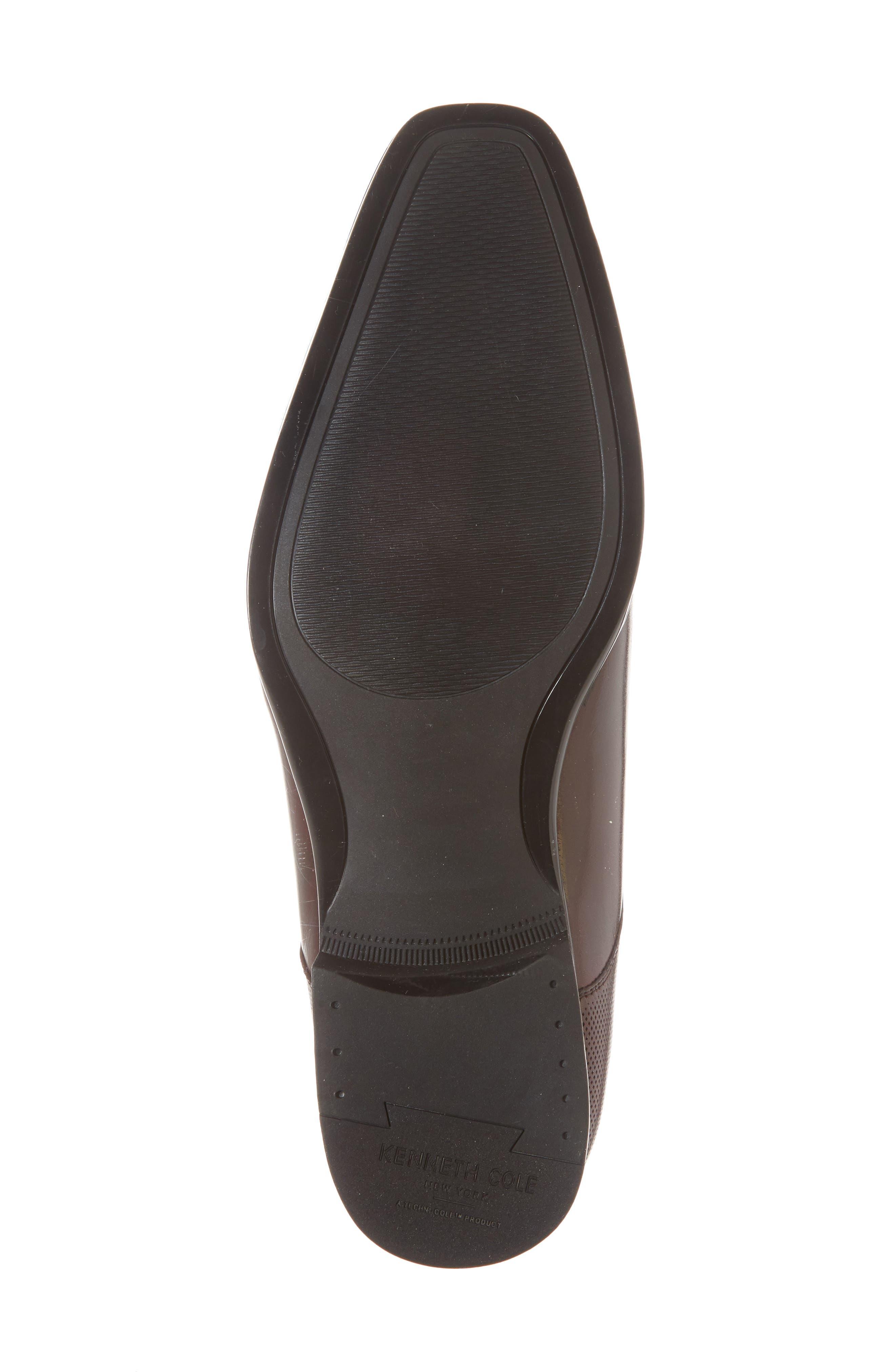 Embossed Cap Toe Derby,                             Alternate thumbnail 6, color,                             Bordeaux Leather