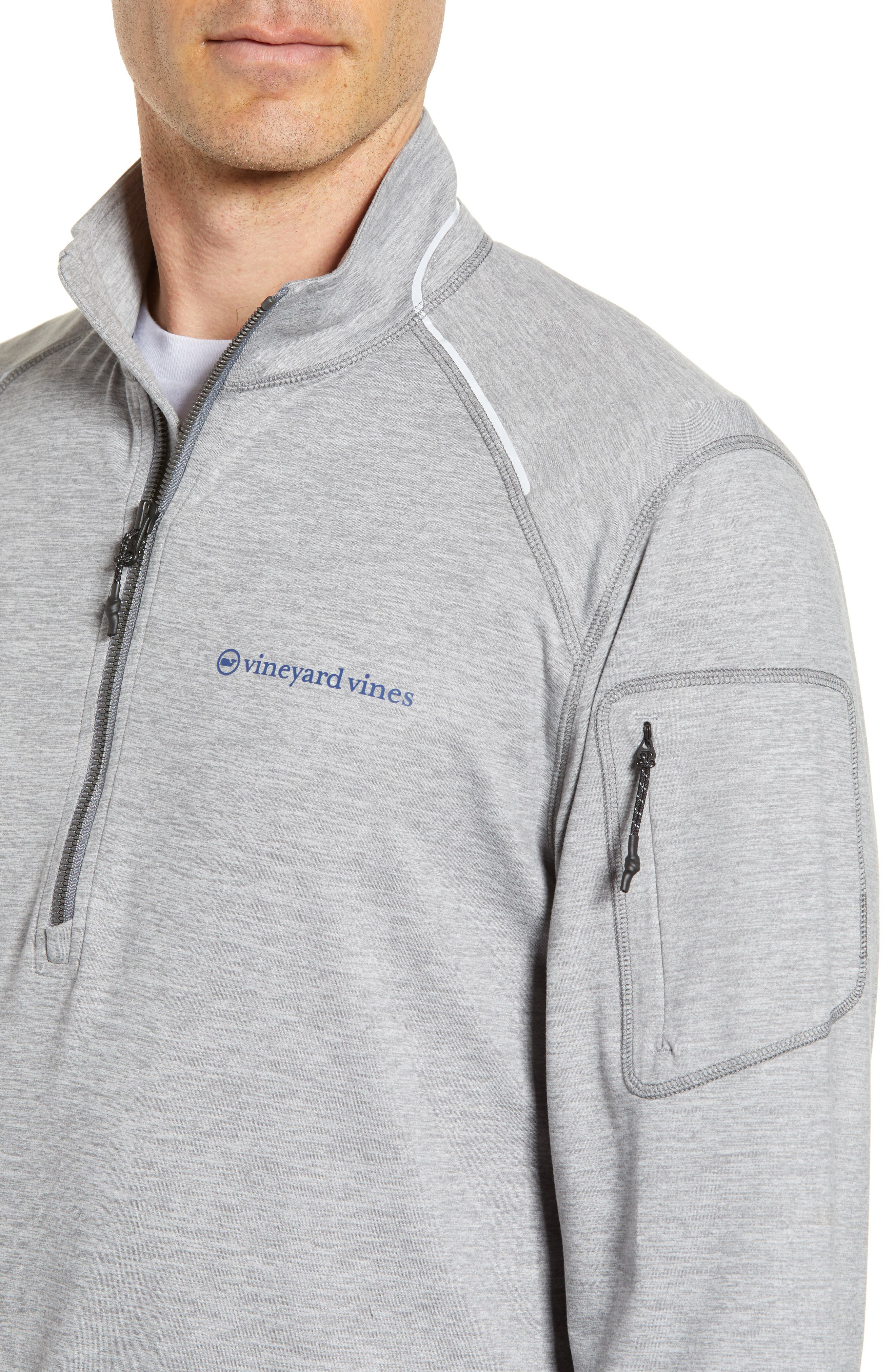 Performance Half Zip Pullover,                             Alternate thumbnail 4, color,                             Gray Heather