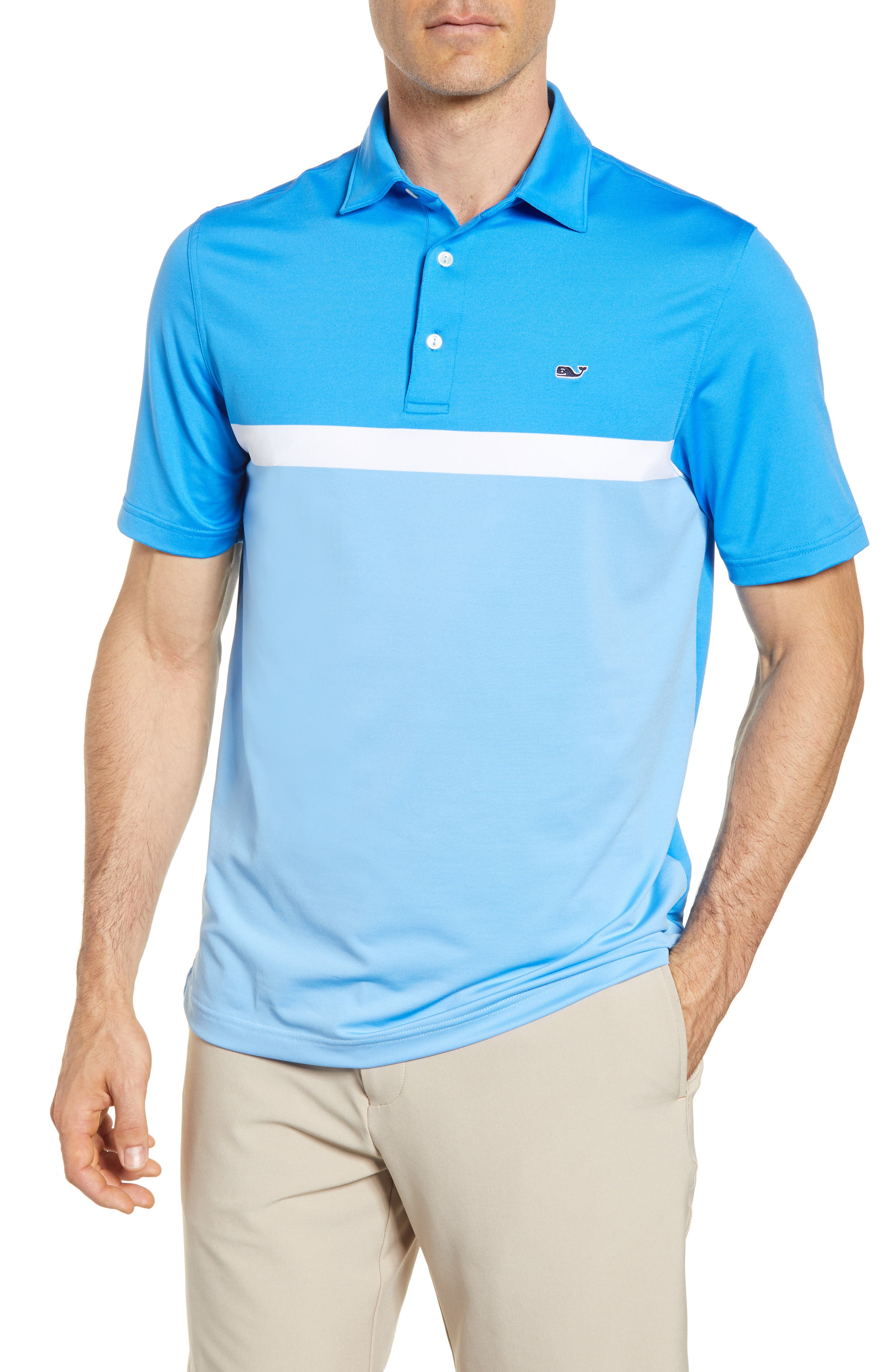 Alternate Image 1 Selected - vineyard vines McGovern Stretch Colorblock Polo