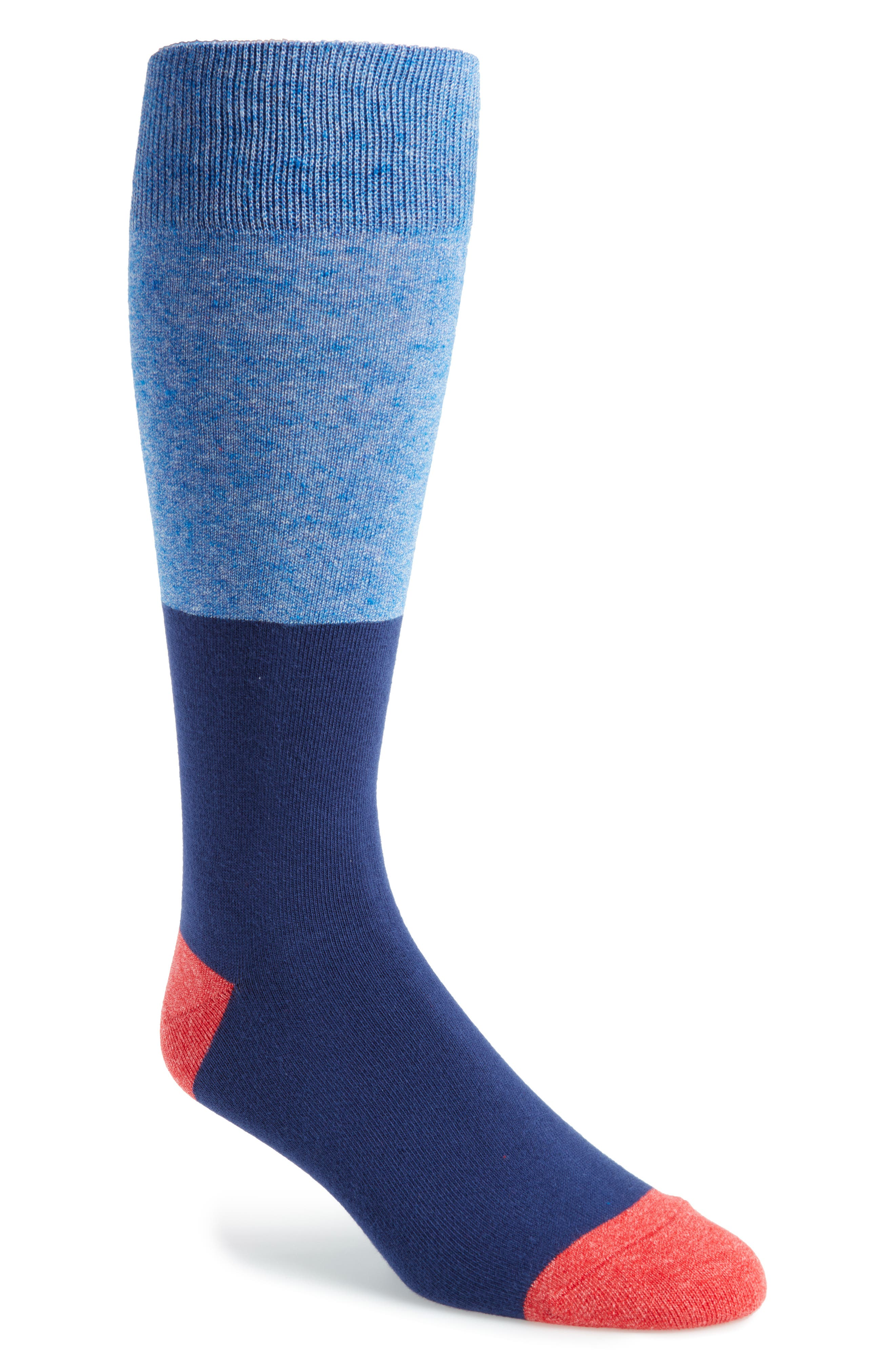 Colorblock Socks,                         Main,                         color, Navy/ Red