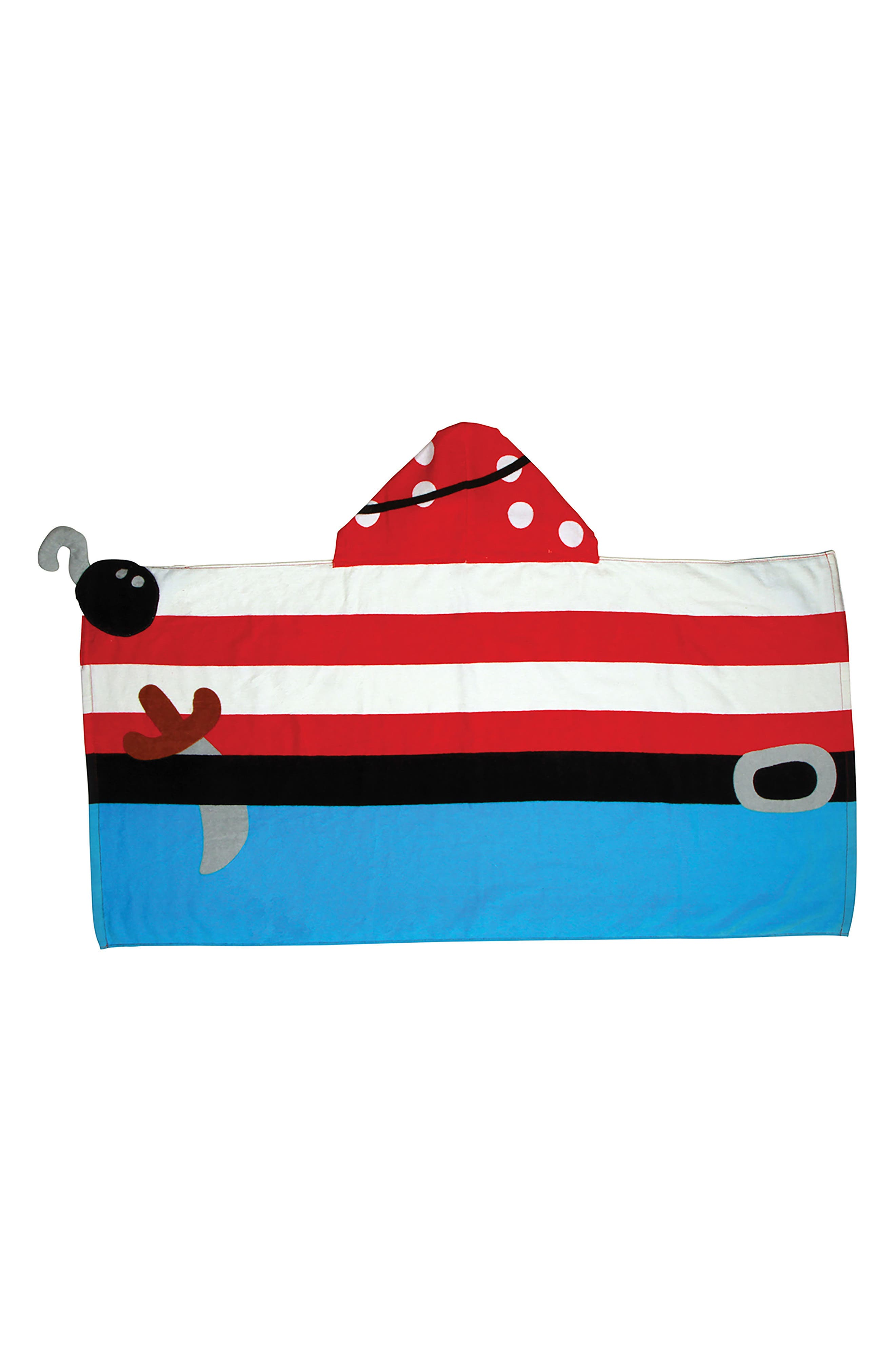 Bag, Hooded Towel & Goggles,                             Alternate thumbnail 4, color,                             Red
