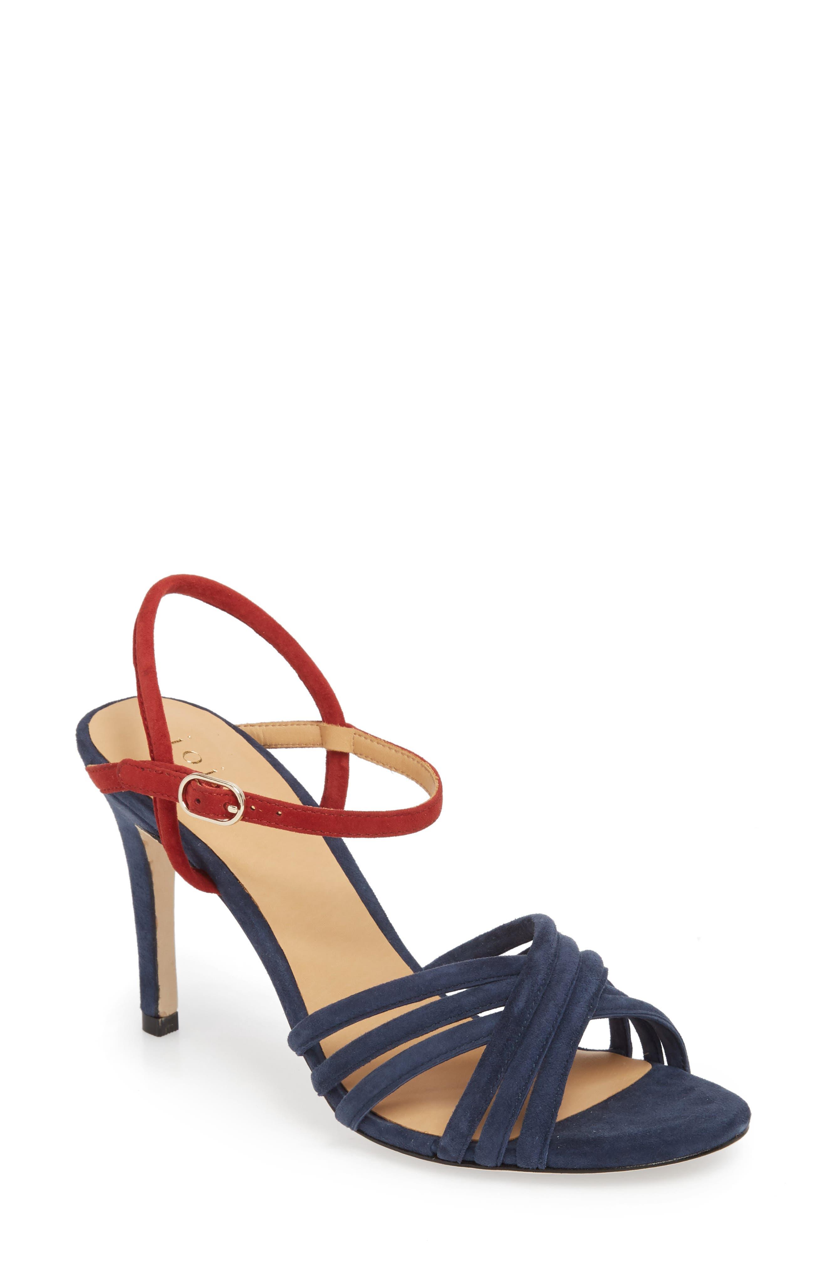 Amerton Sandal,                         Main,                         color, Navy