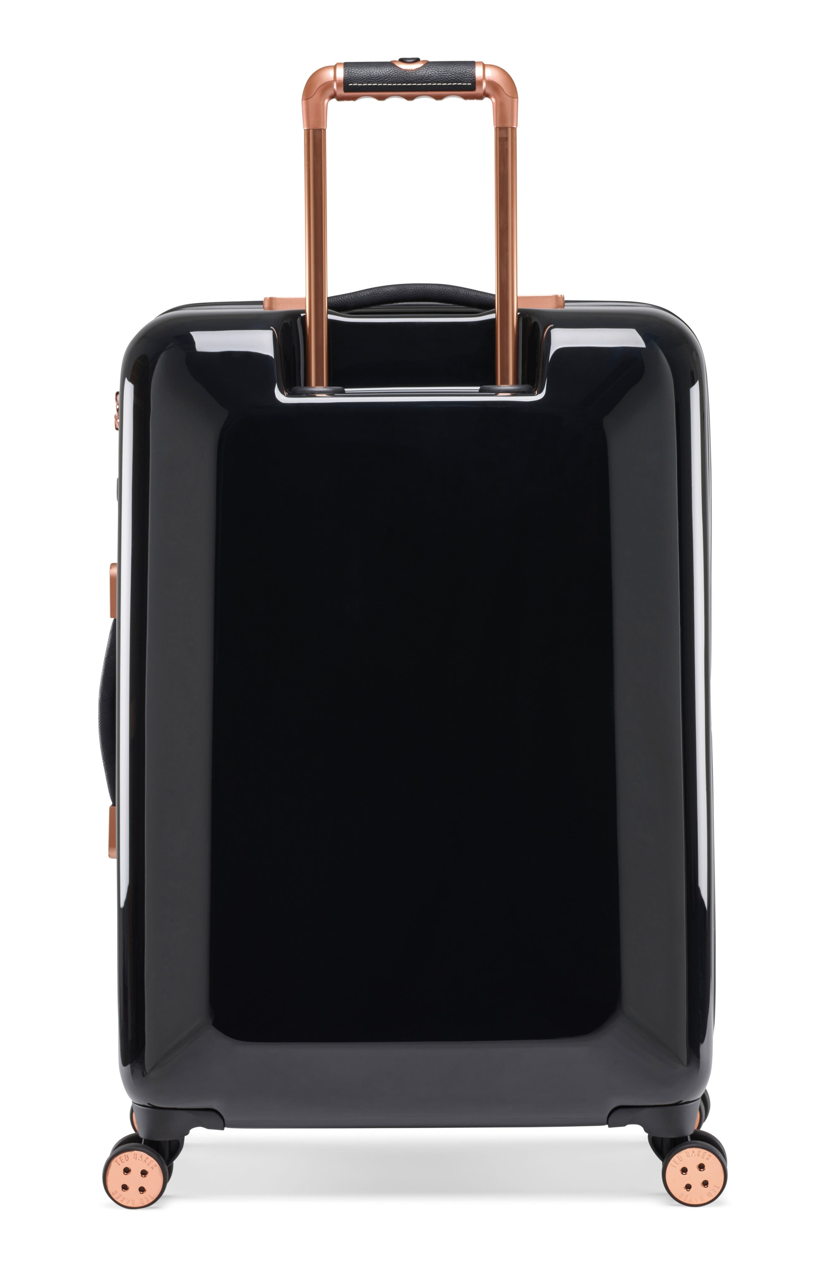 Medium Versailles 27-Inch Hard Shell Spinner Suitcase,                             Alternate thumbnail 4, color,                             Black