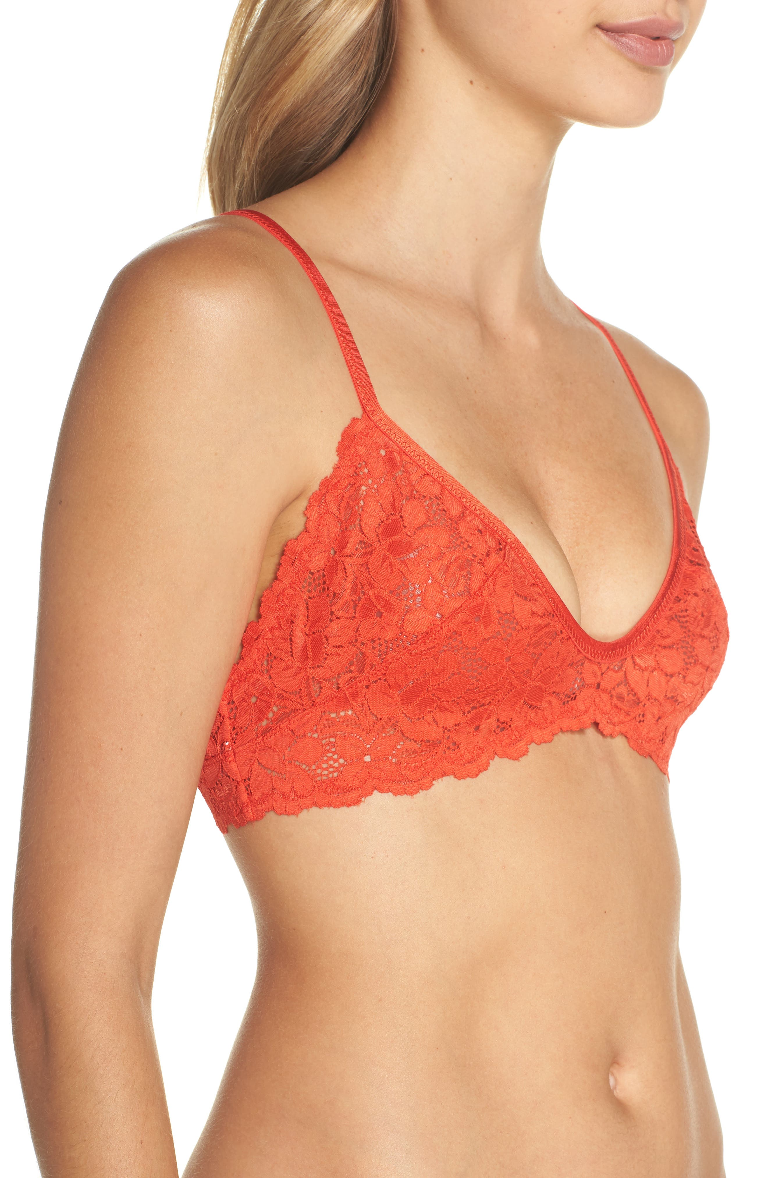 Intimately FP Shea Bralette,                             Alternate thumbnail 3, color,                             Red
