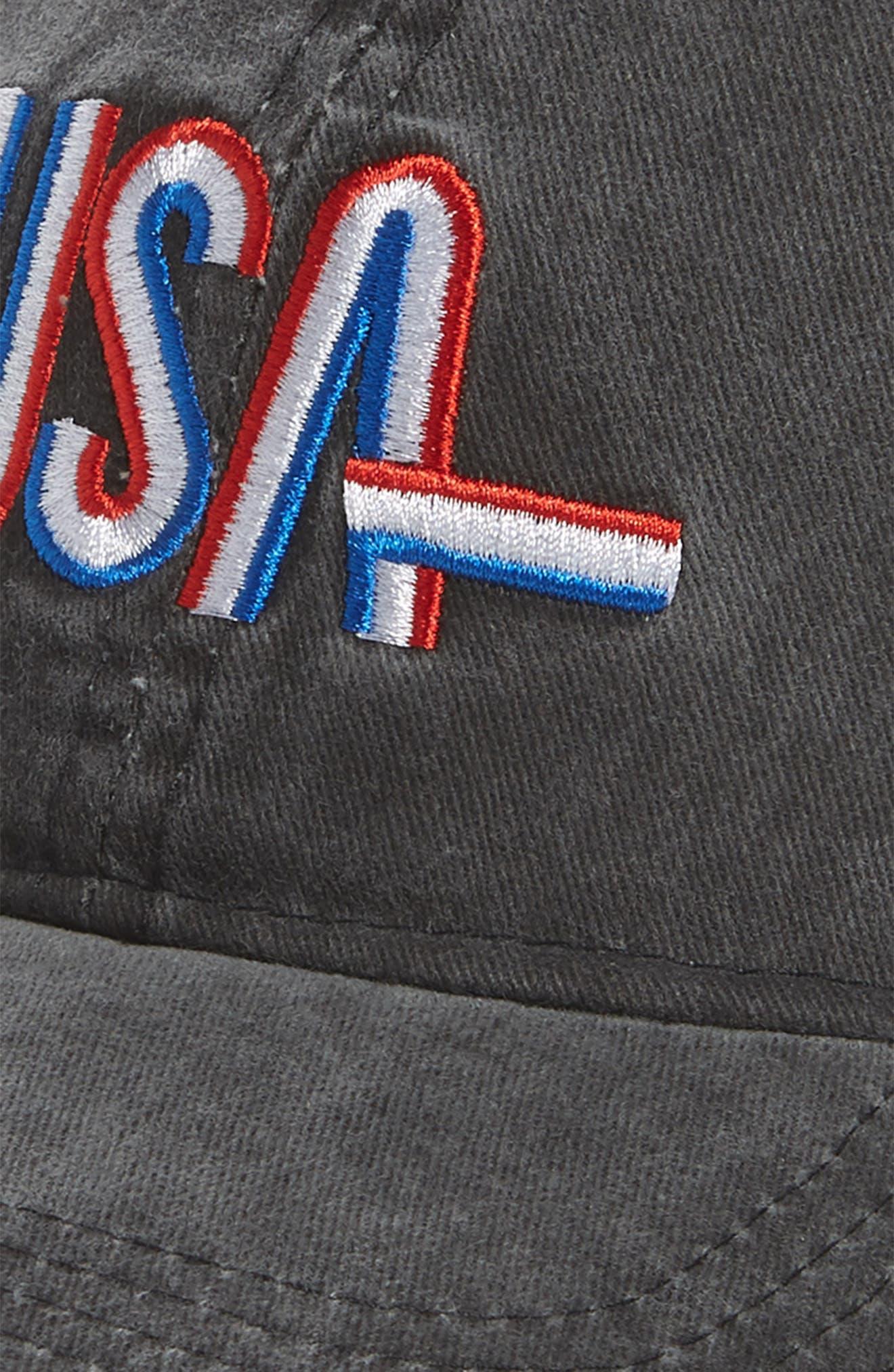 USA Baseball Cap,                             Alternate thumbnail 3, color,                             Washed Black