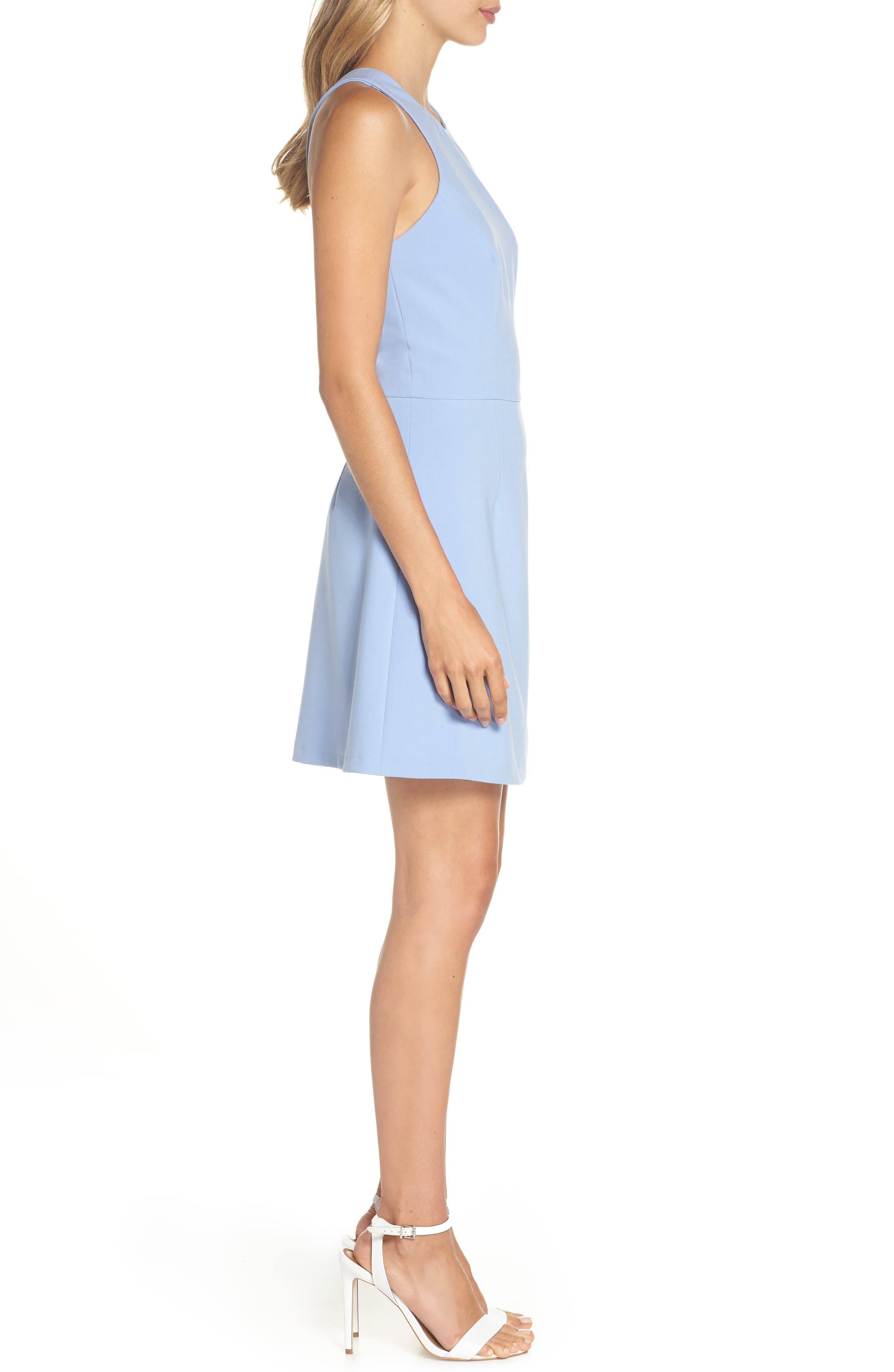 V-Back Tank Dress,                             Alternate thumbnail 3, color,                             Ancona Blue