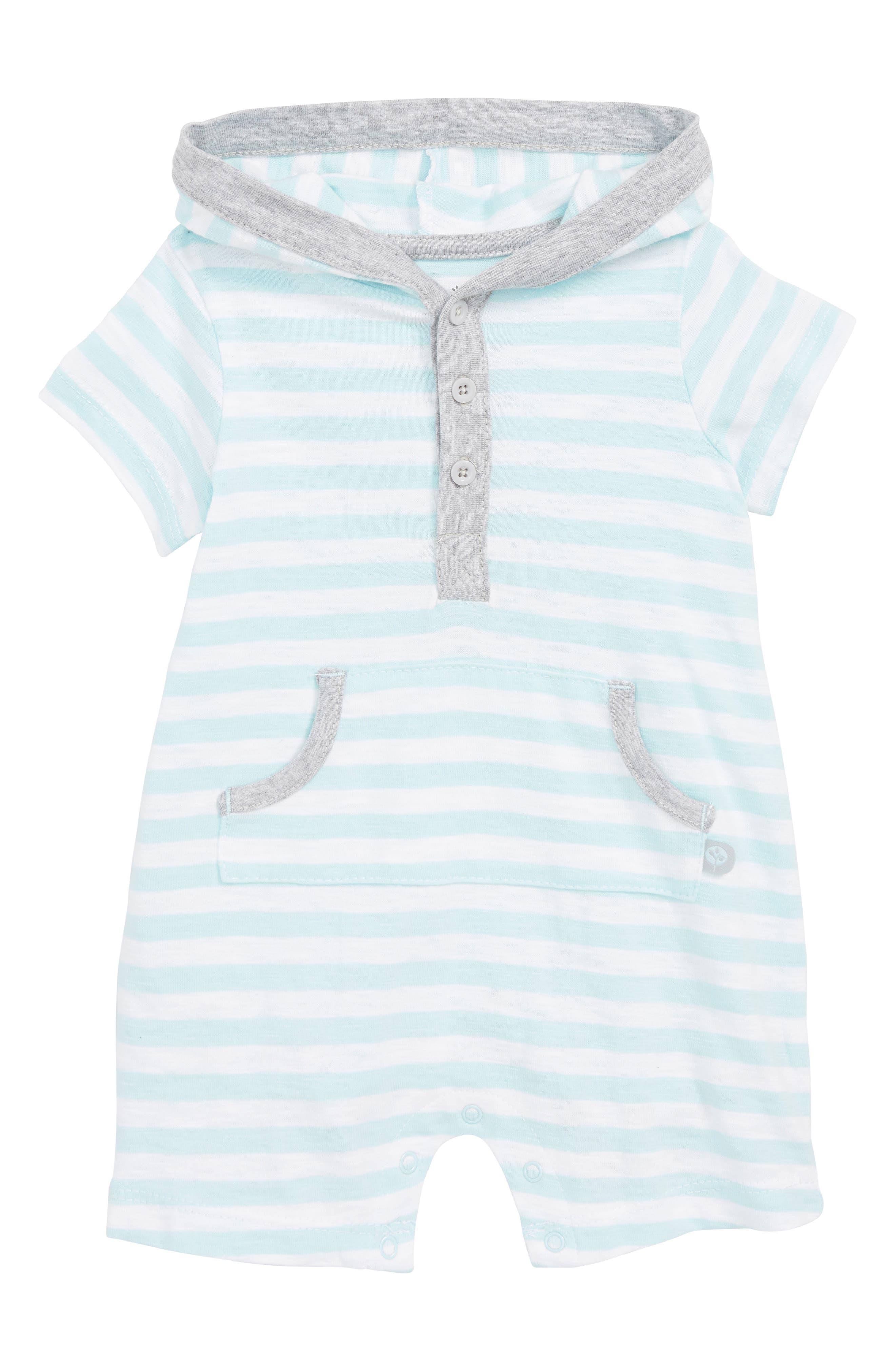Offspring Stripe Hooded Romper (Baby)