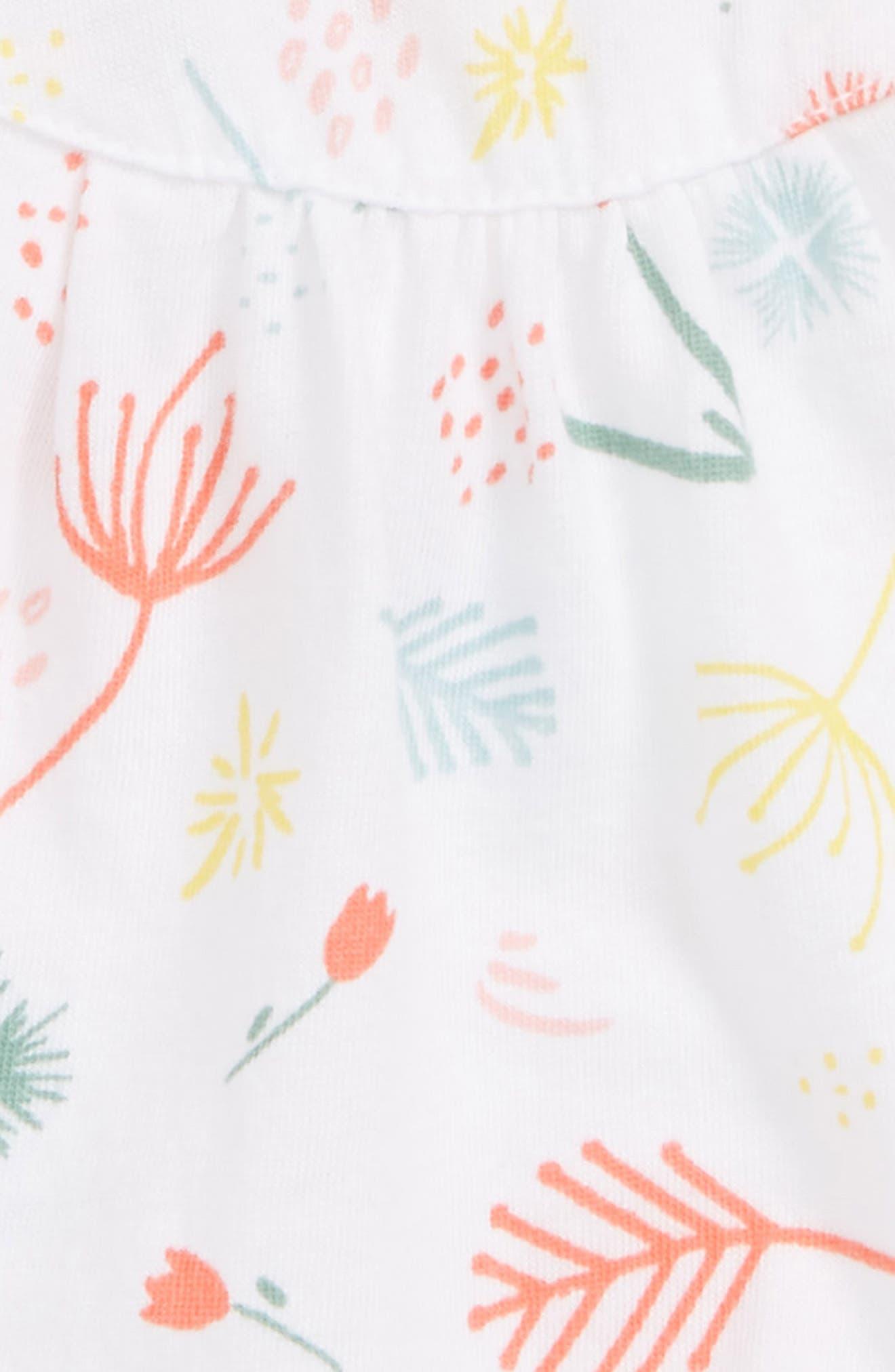 Sleeveless Romper,                             Alternate thumbnail 2, color,                             White Multi Wild Flowers