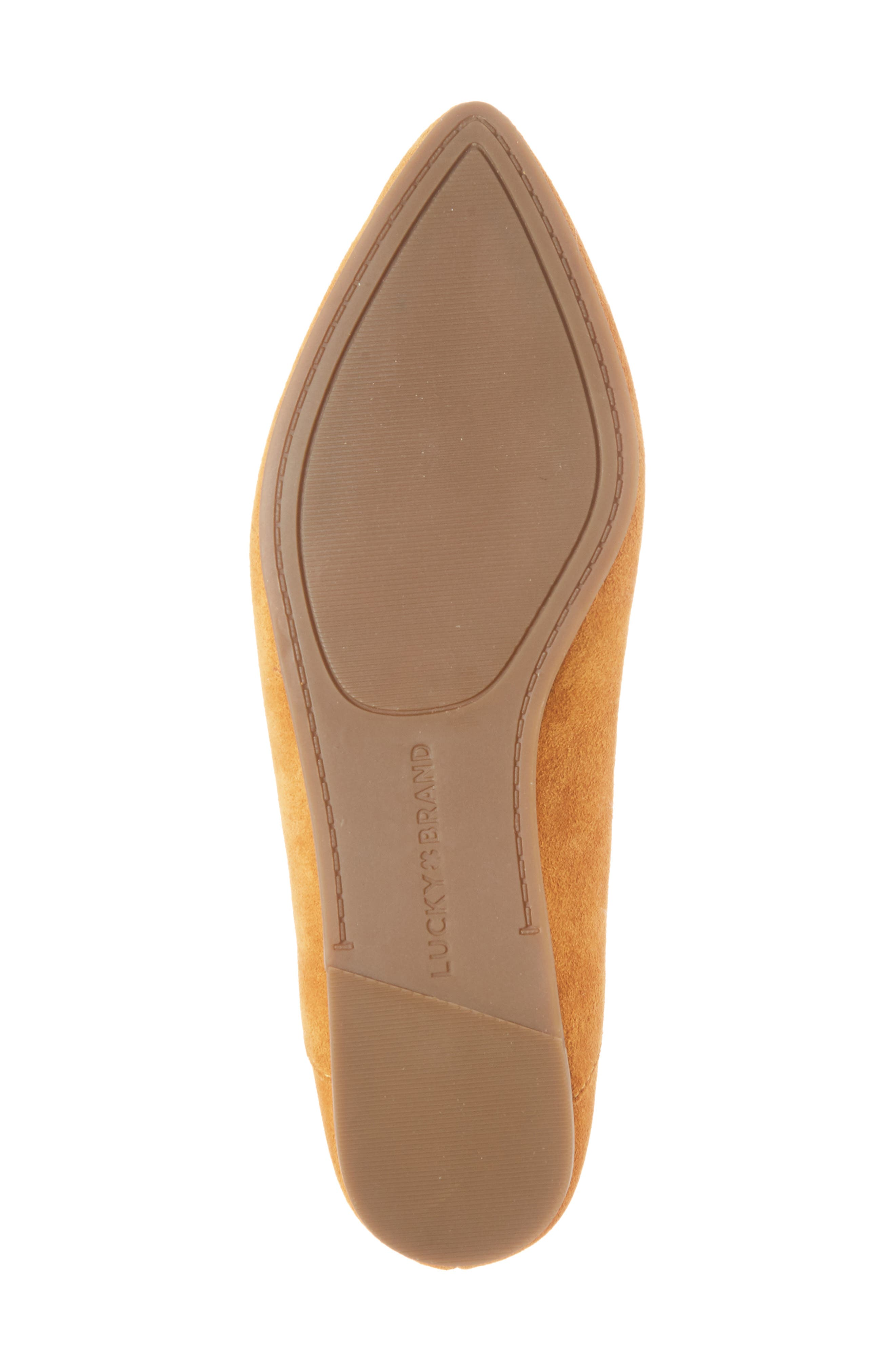 Bylando Flat,                             Alternate thumbnail 6, color,                             Inca Gold Suede