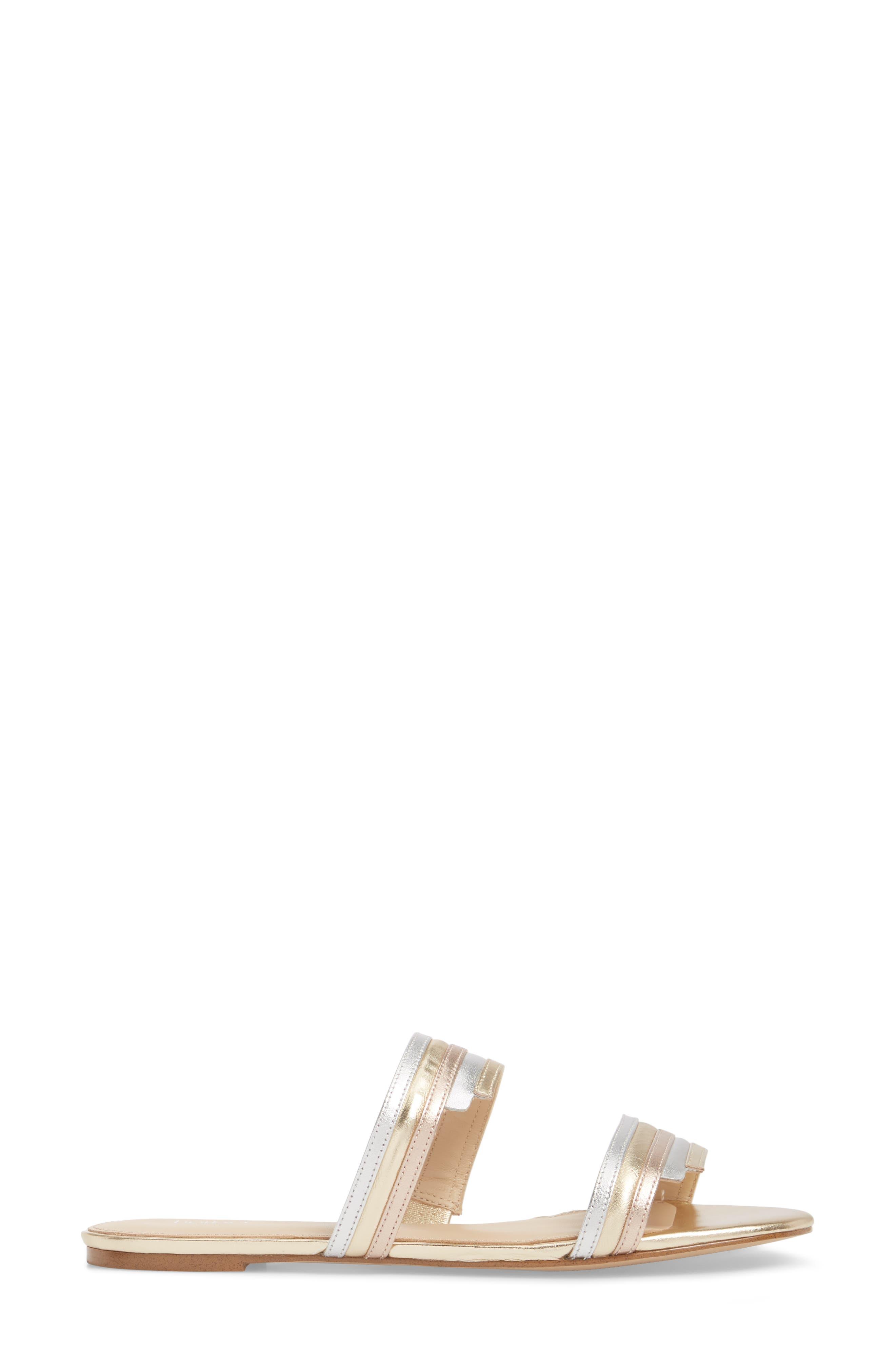 Maise Slide Sandal,                             Alternate thumbnail 3, color,                             Ivory Multi Leather
