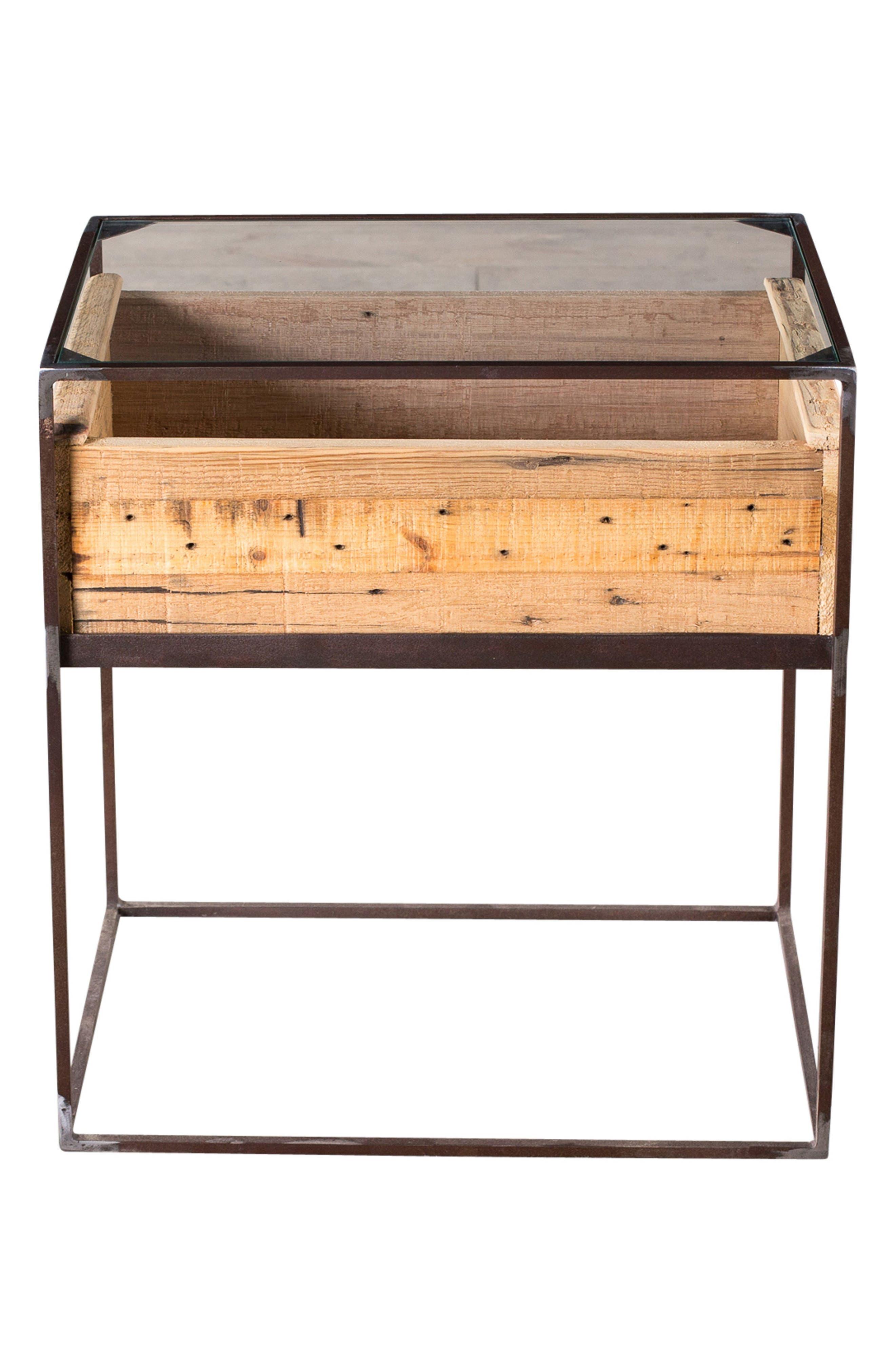 Landon Wood Box Side Table,                             Main thumbnail 1, color,                             Natural