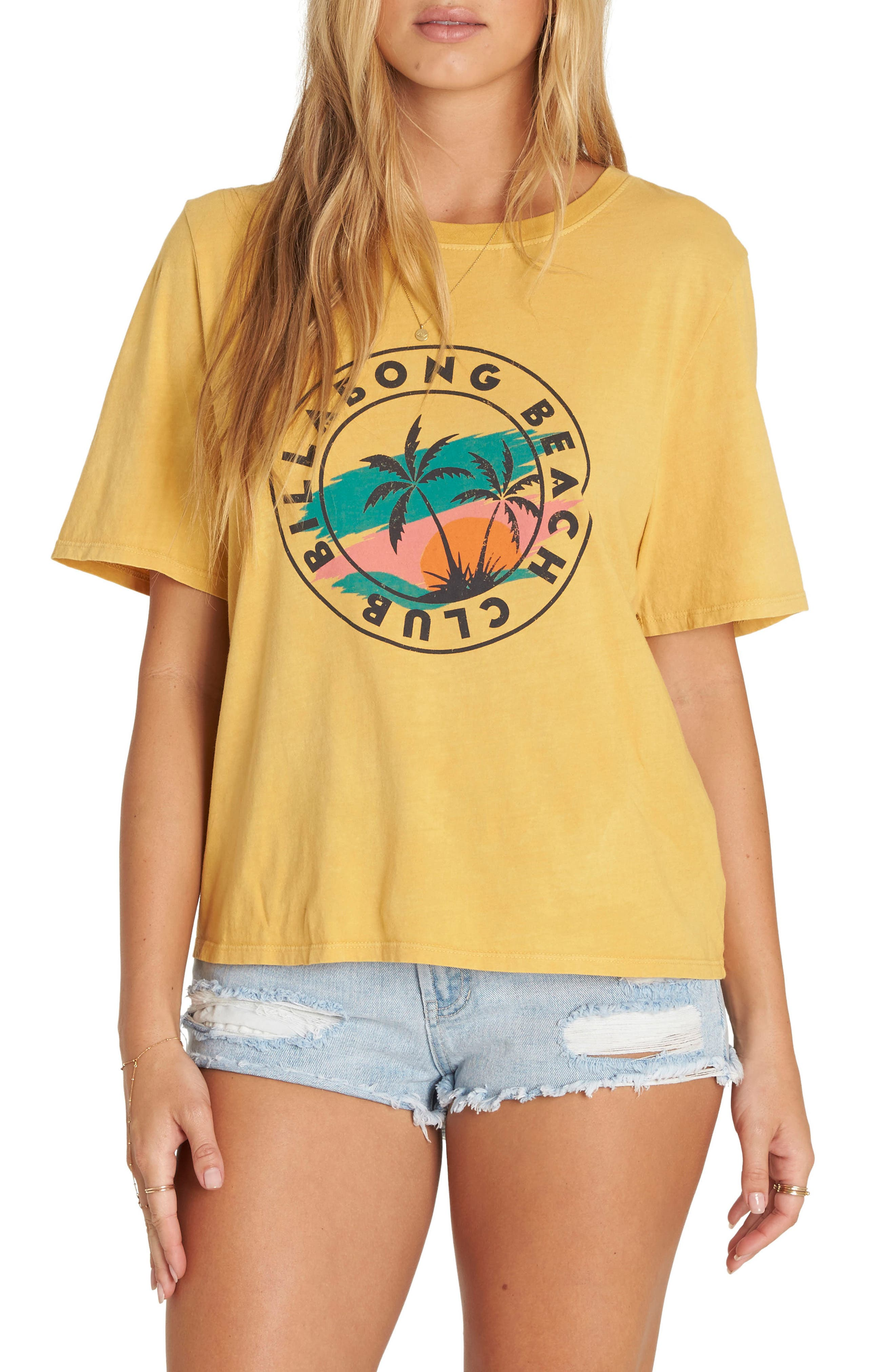 Take Back Graphic Tee,                         Main,                         color, Gold Dust