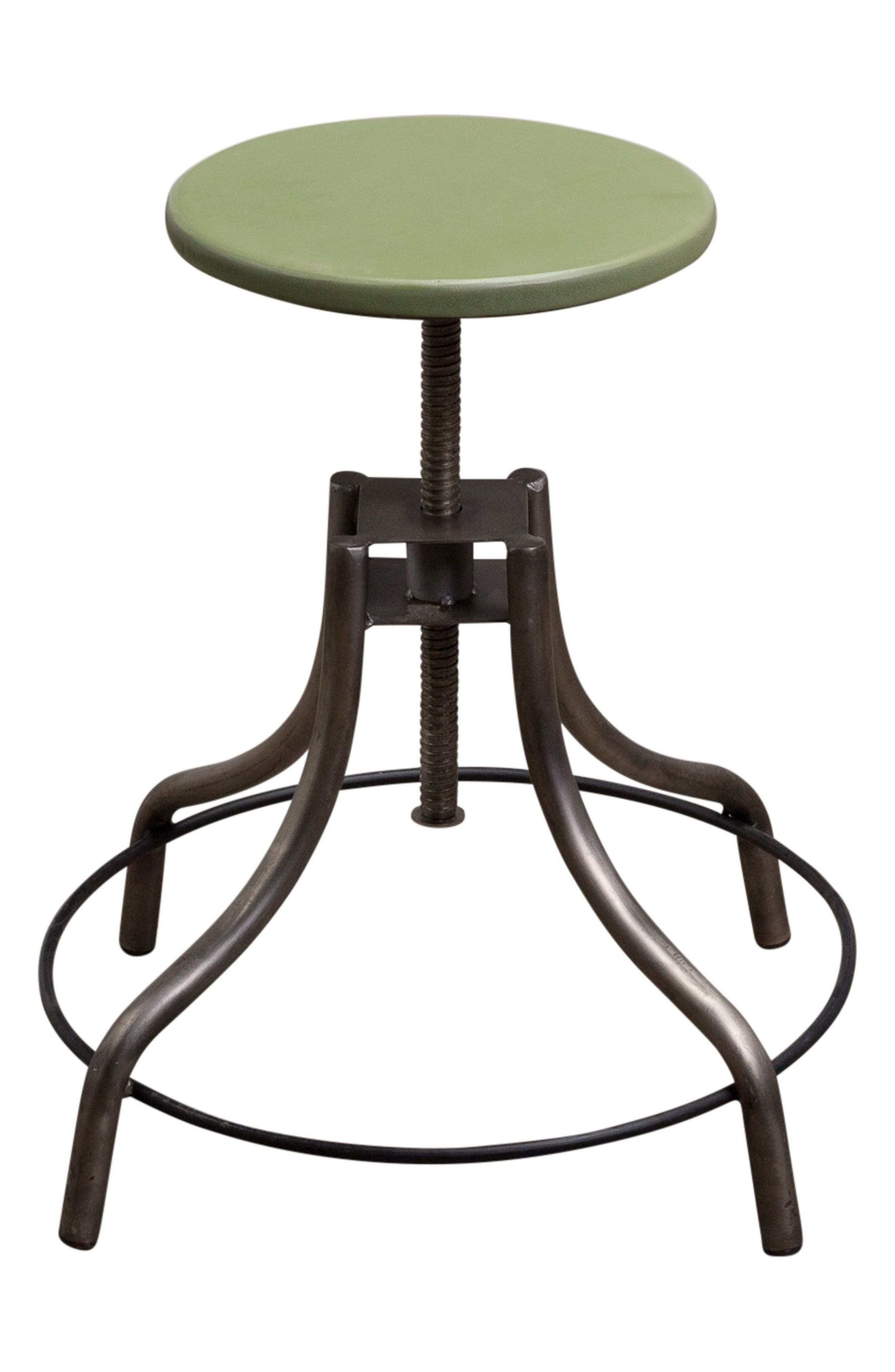 Factory Twist Stool,                         Main,                         color, Green Patina Steel