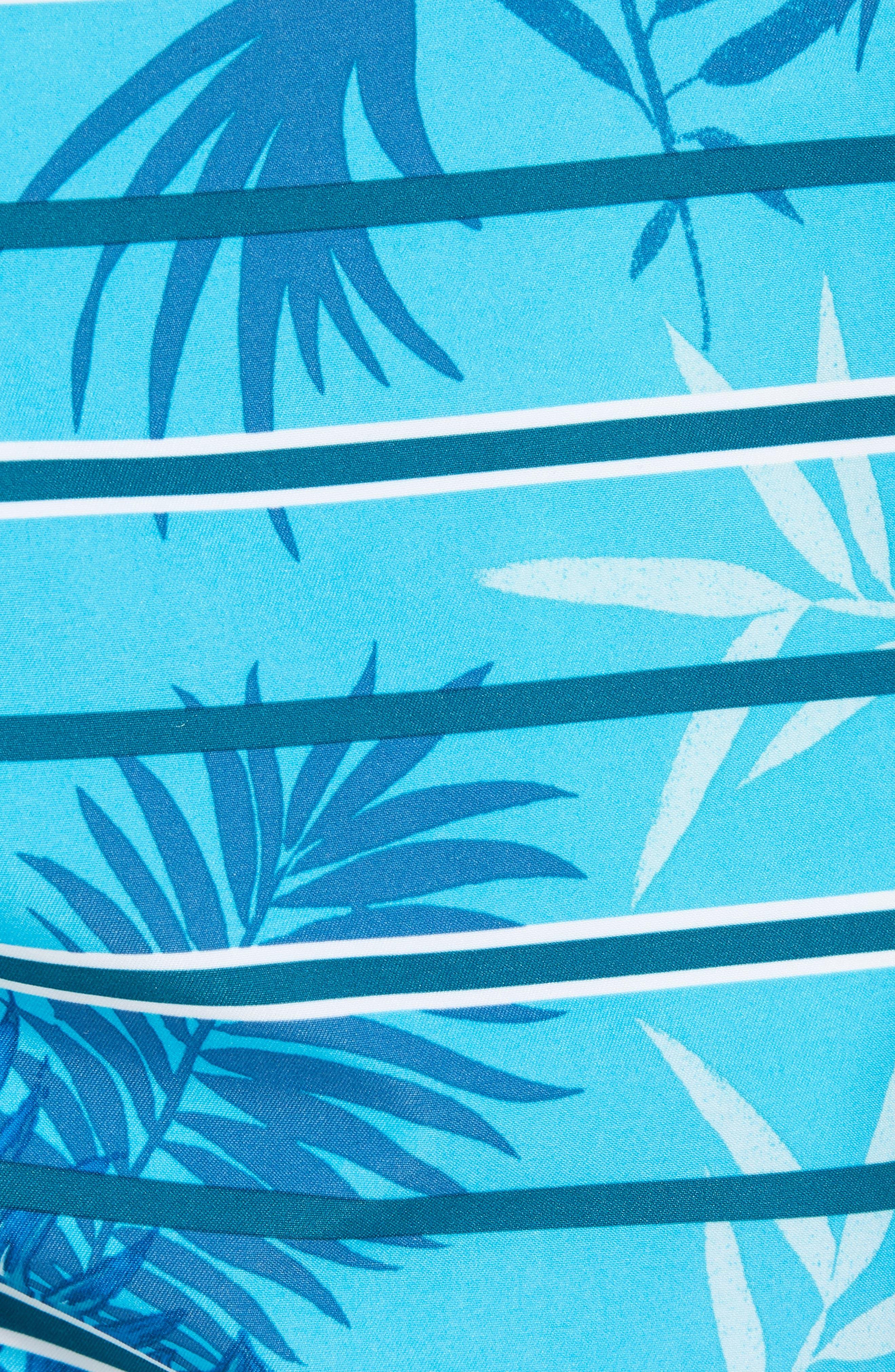 Baja Satillo Stripe Board Shorts,                             Alternate thumbnail 5, color,                             Blue Radiance