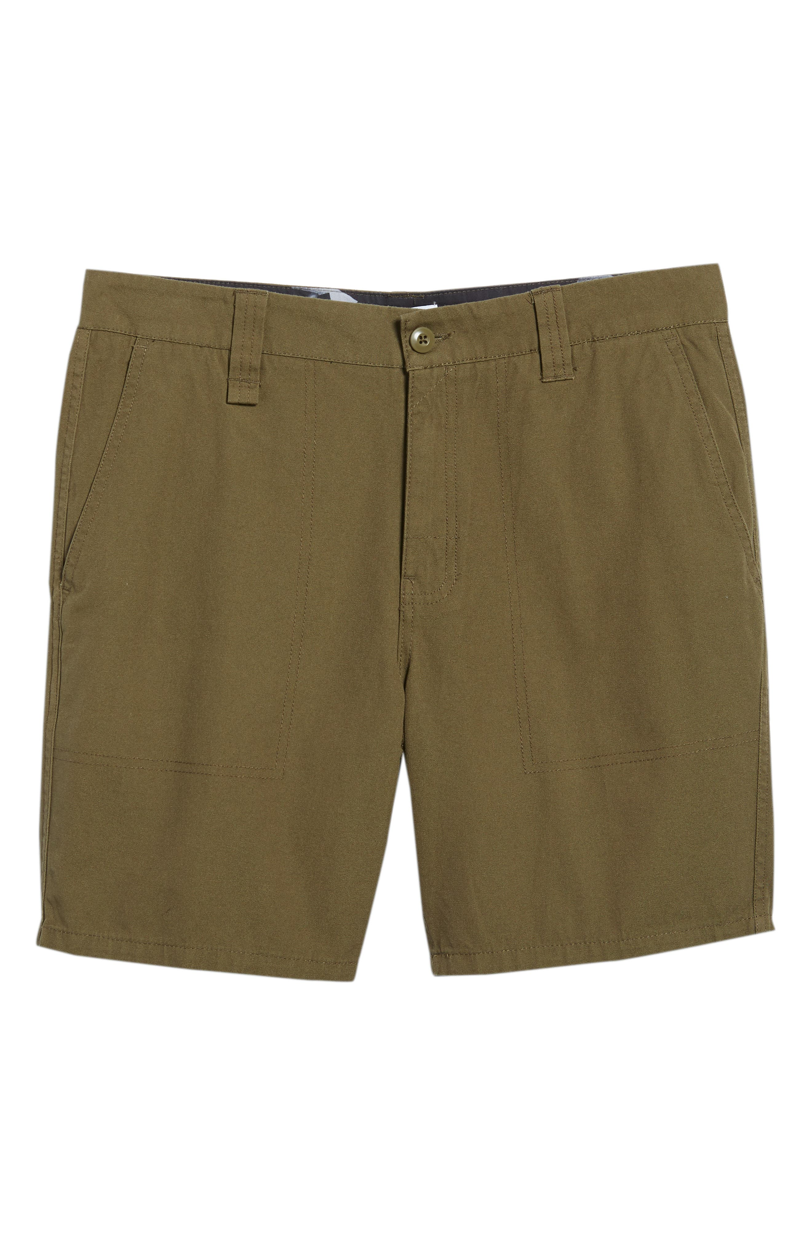 Collins Canvas Shorts,                             Alternate thumbnail 6, color,                             Fatigue Green