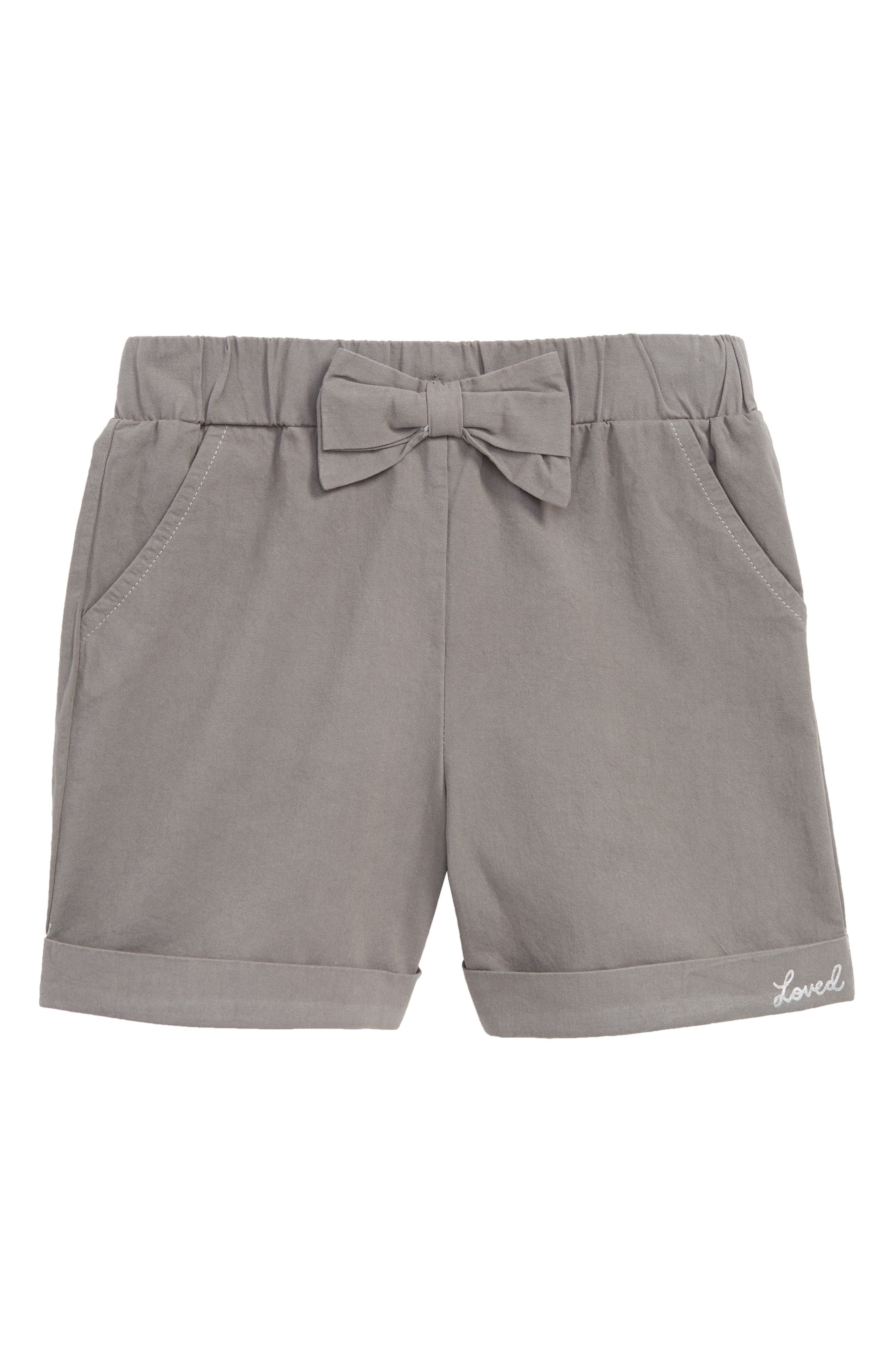 Cuffed Shorts,                         Main,                         color, Charcoal