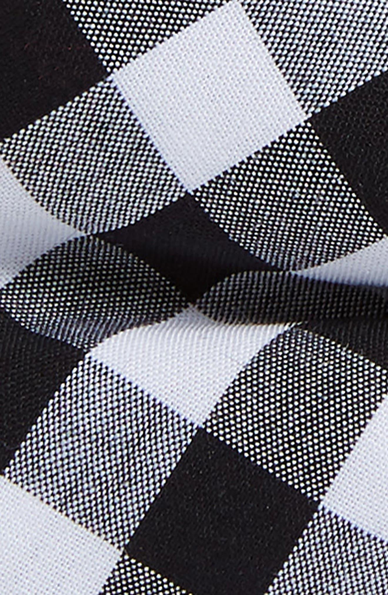 Check Cotton Bow Tie,                             Alternate thumbnail 2, color,                             Black