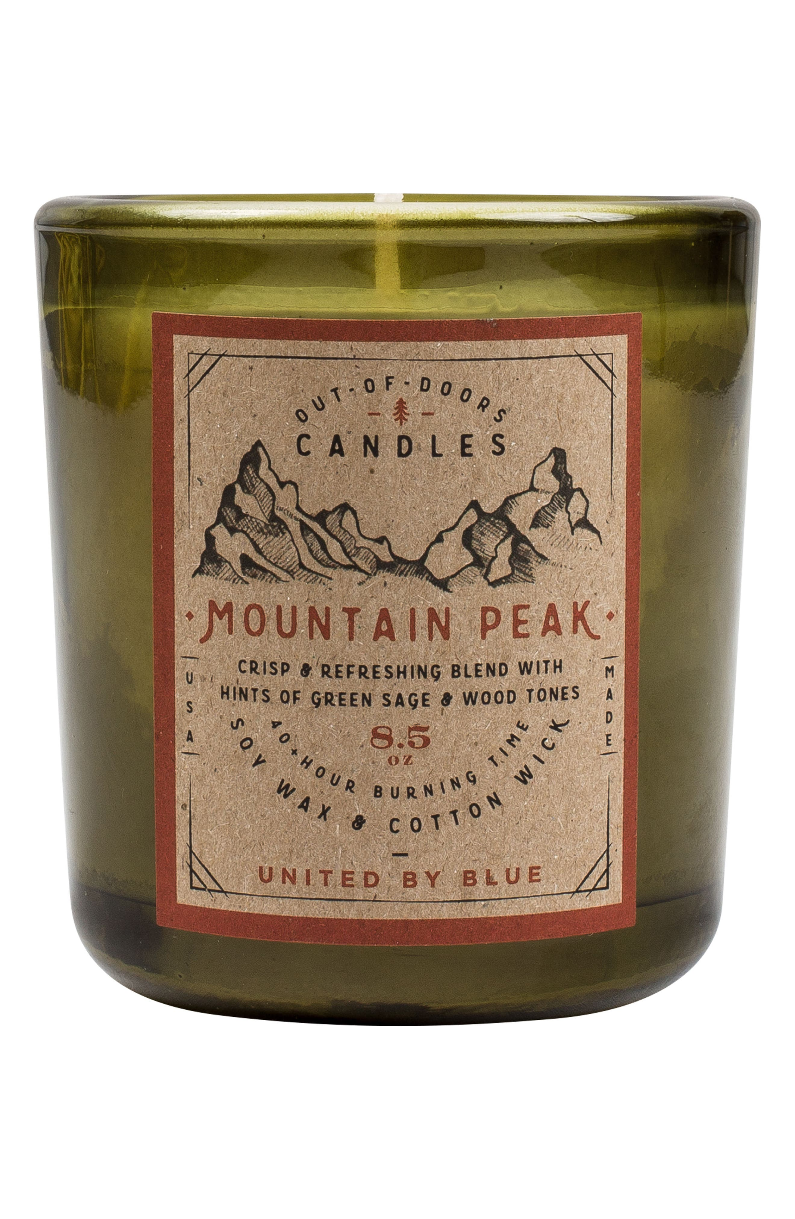 Mountain Peak Out-of-Doors Scented Candle,                             Main thumbnail 1, color,                             Mountain Peak 2