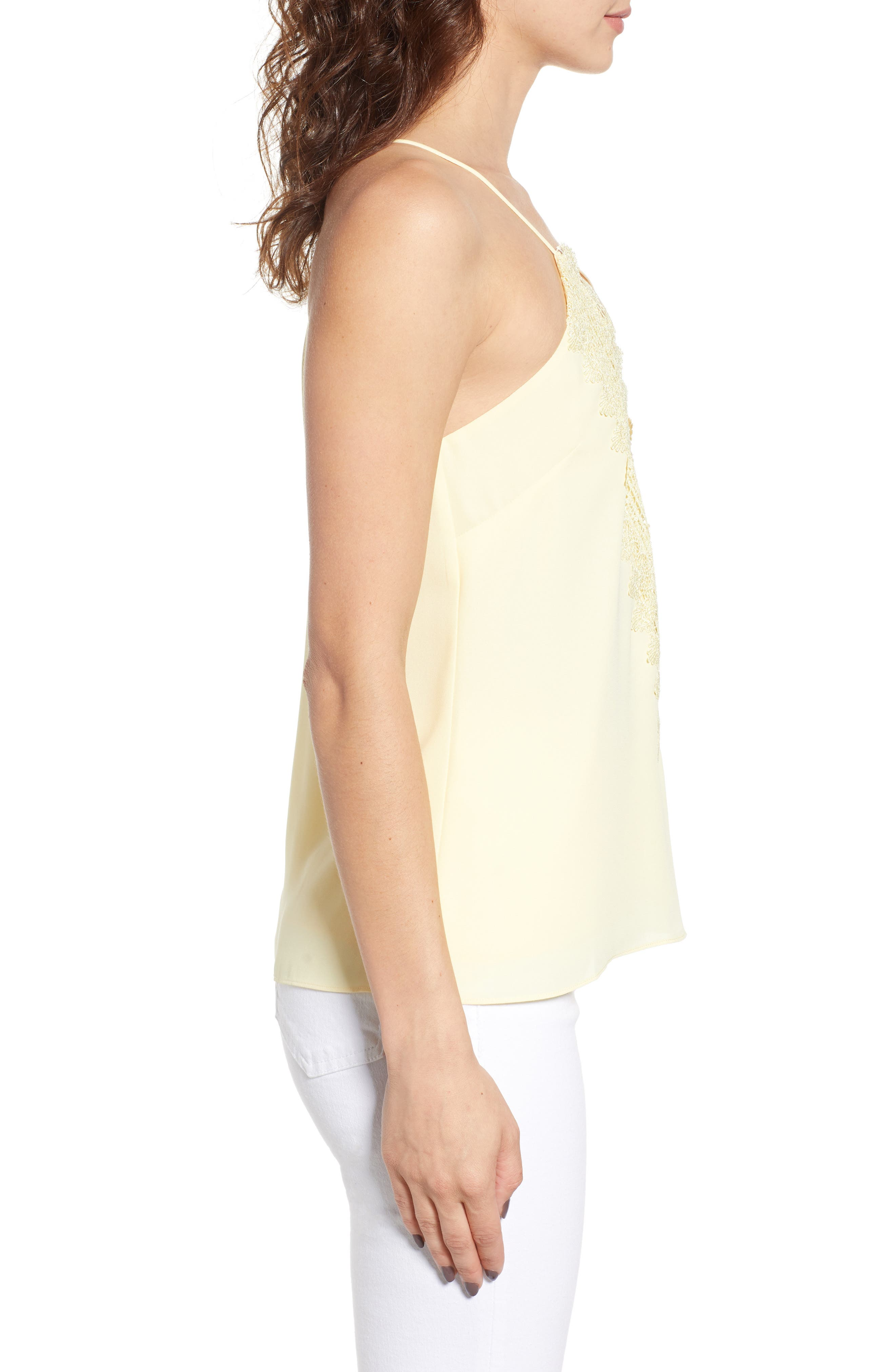 Posie Strappy Camisole,                             Alternate thumbnail 4, color,                             Yellow Pastel