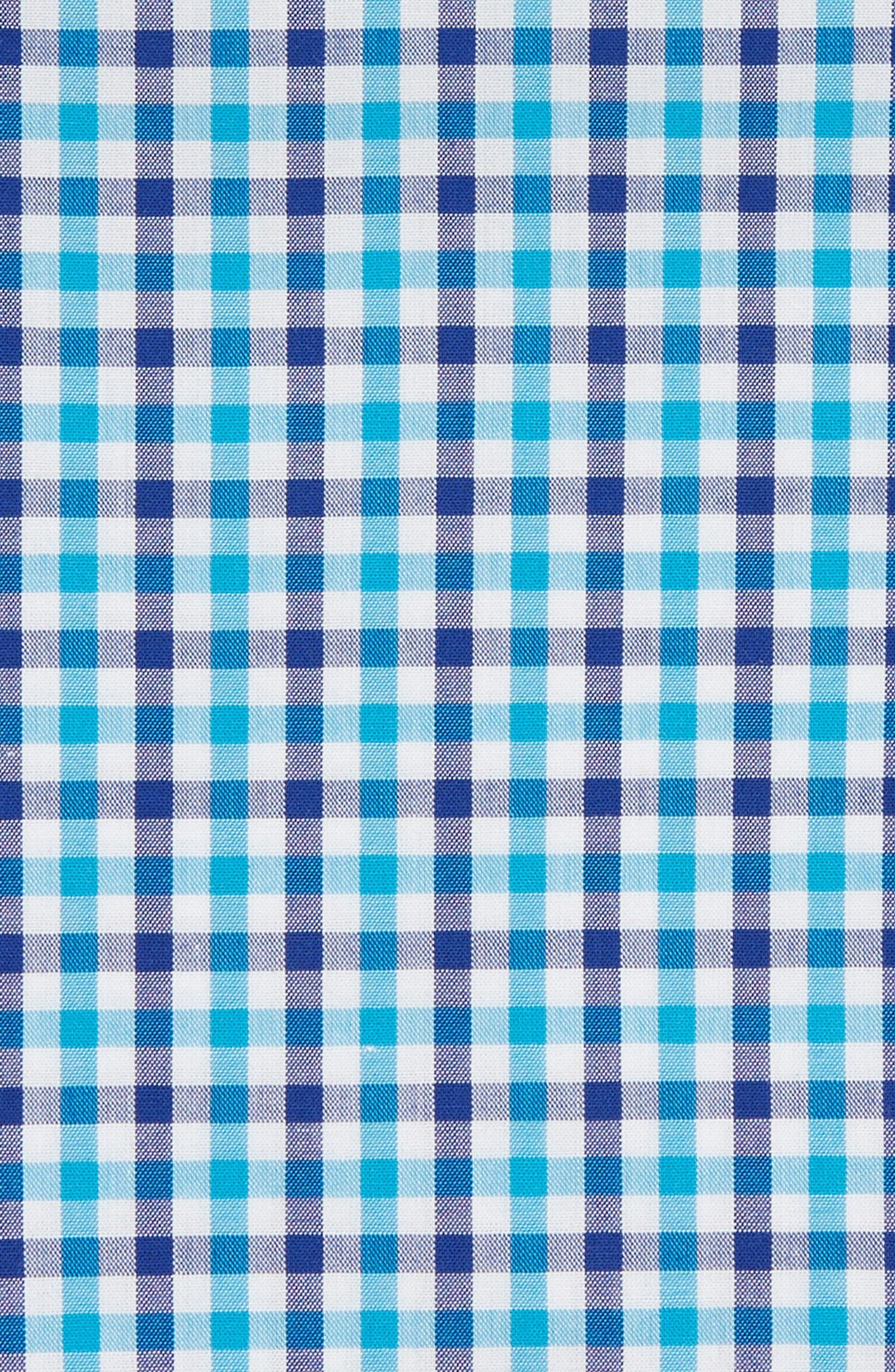Gingham Pocket Square,                             Alternate thumbnail 2, color,                             Turquoise