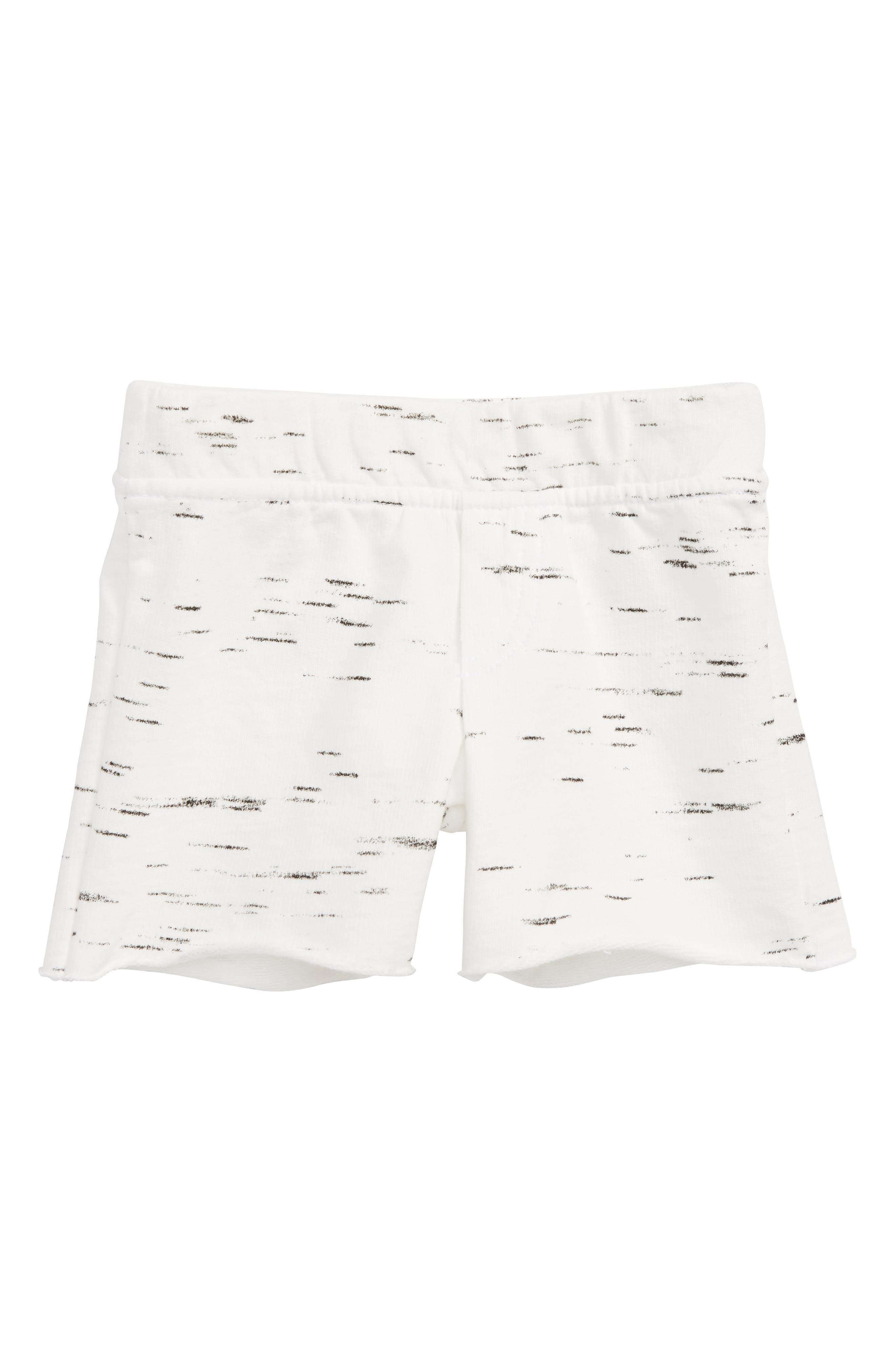 Knit Shorts,                         Main,                         color, White