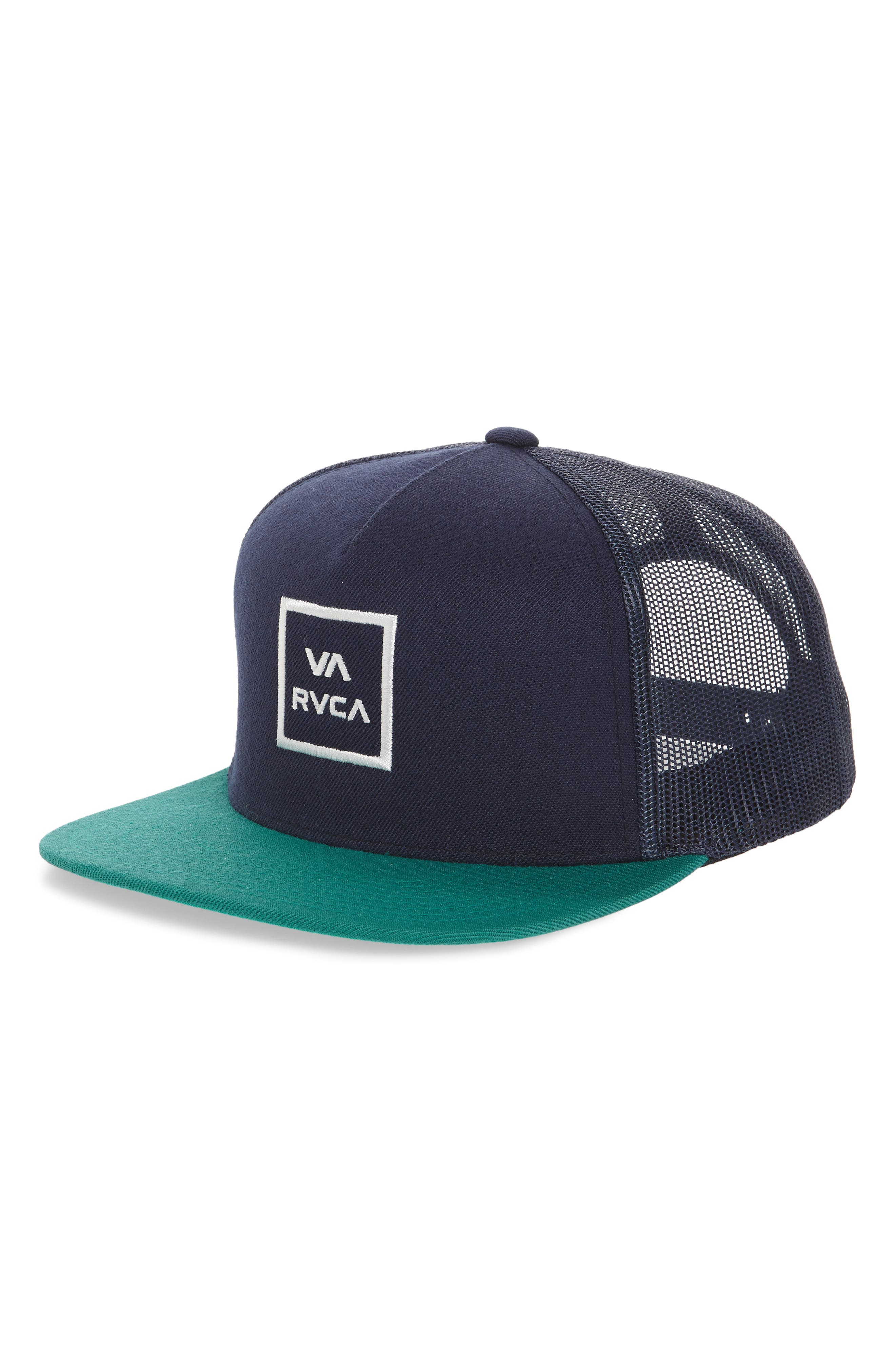 VA All the Way Trucker Hat,                         Main,                         color, Navy/ Teal
