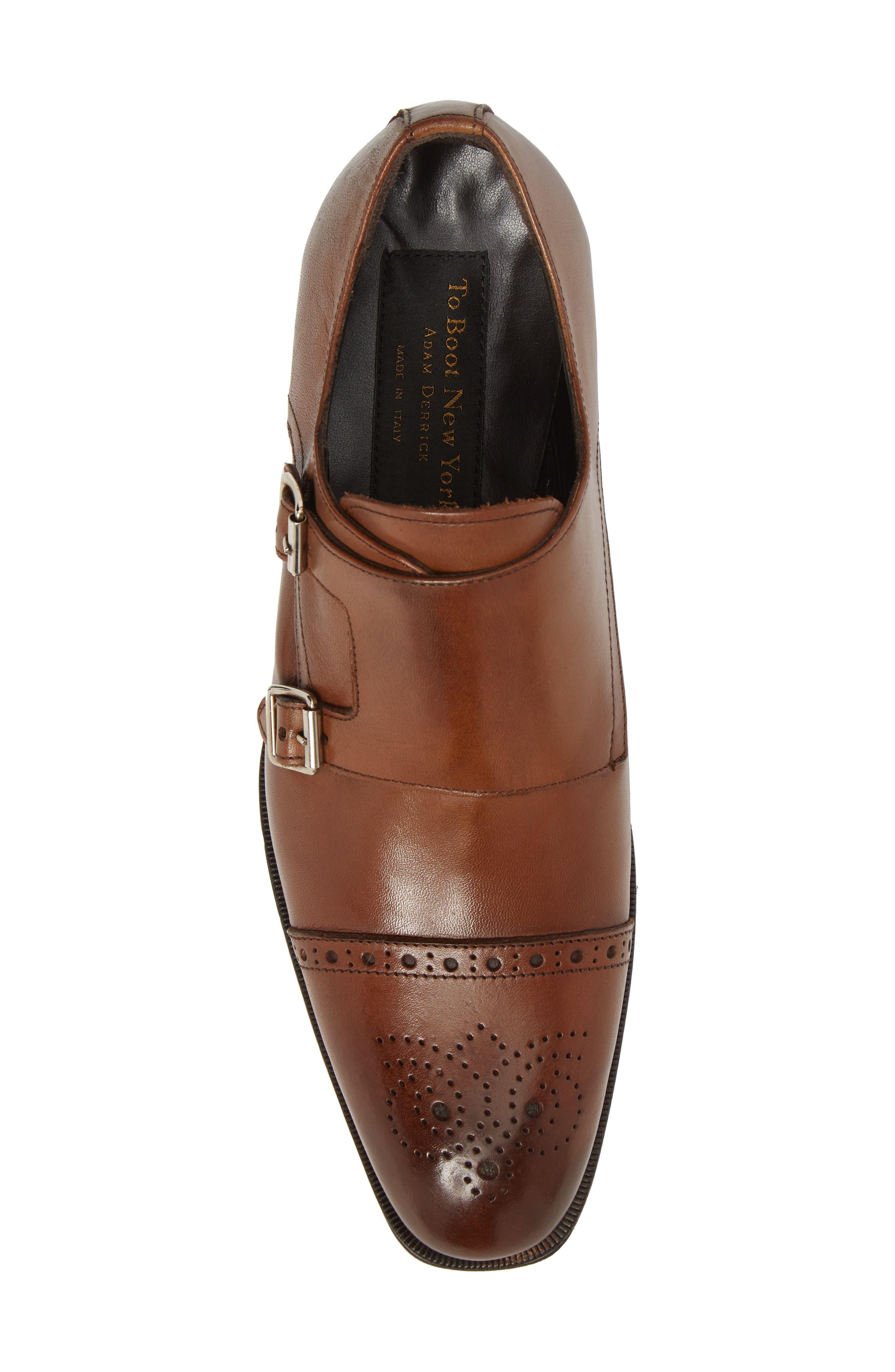 Dreyfus Cap Toe Monk Shoe,                             Alternate thumbnail 5, color,                             Brown