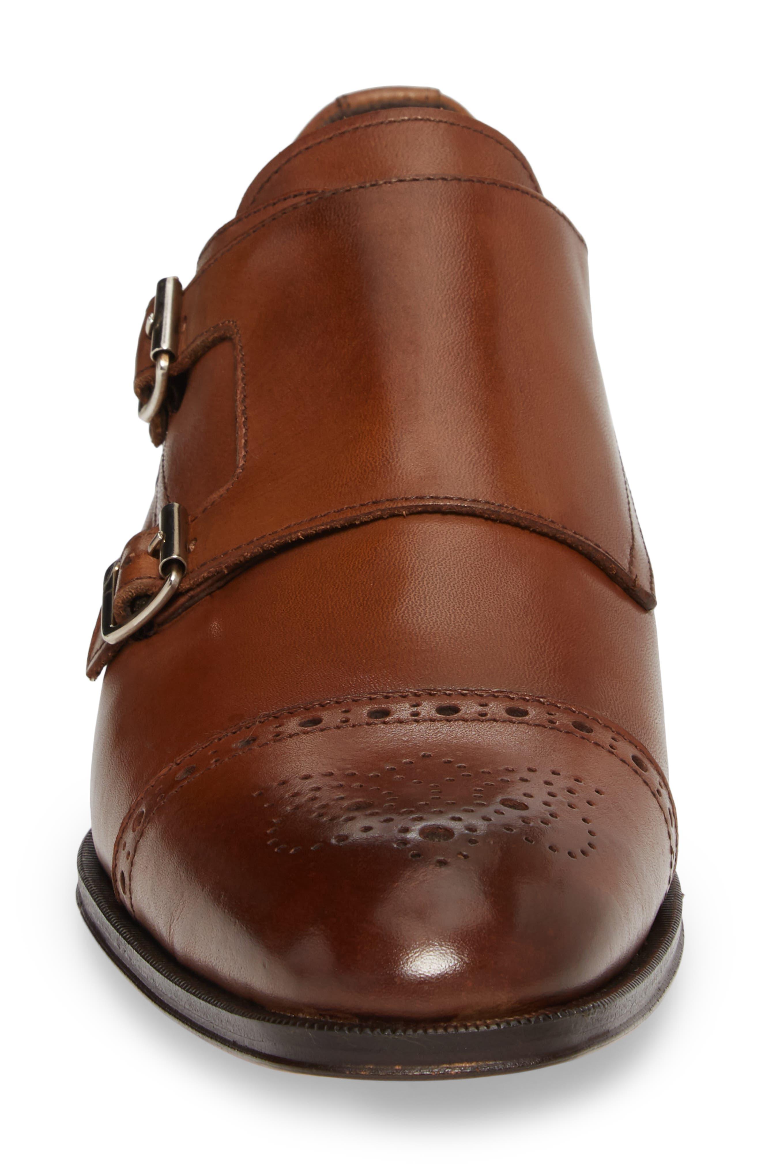 Dreyfus Cap Toe Monk Shoe,                             Alternate thumbnail 4, color,                             Brown