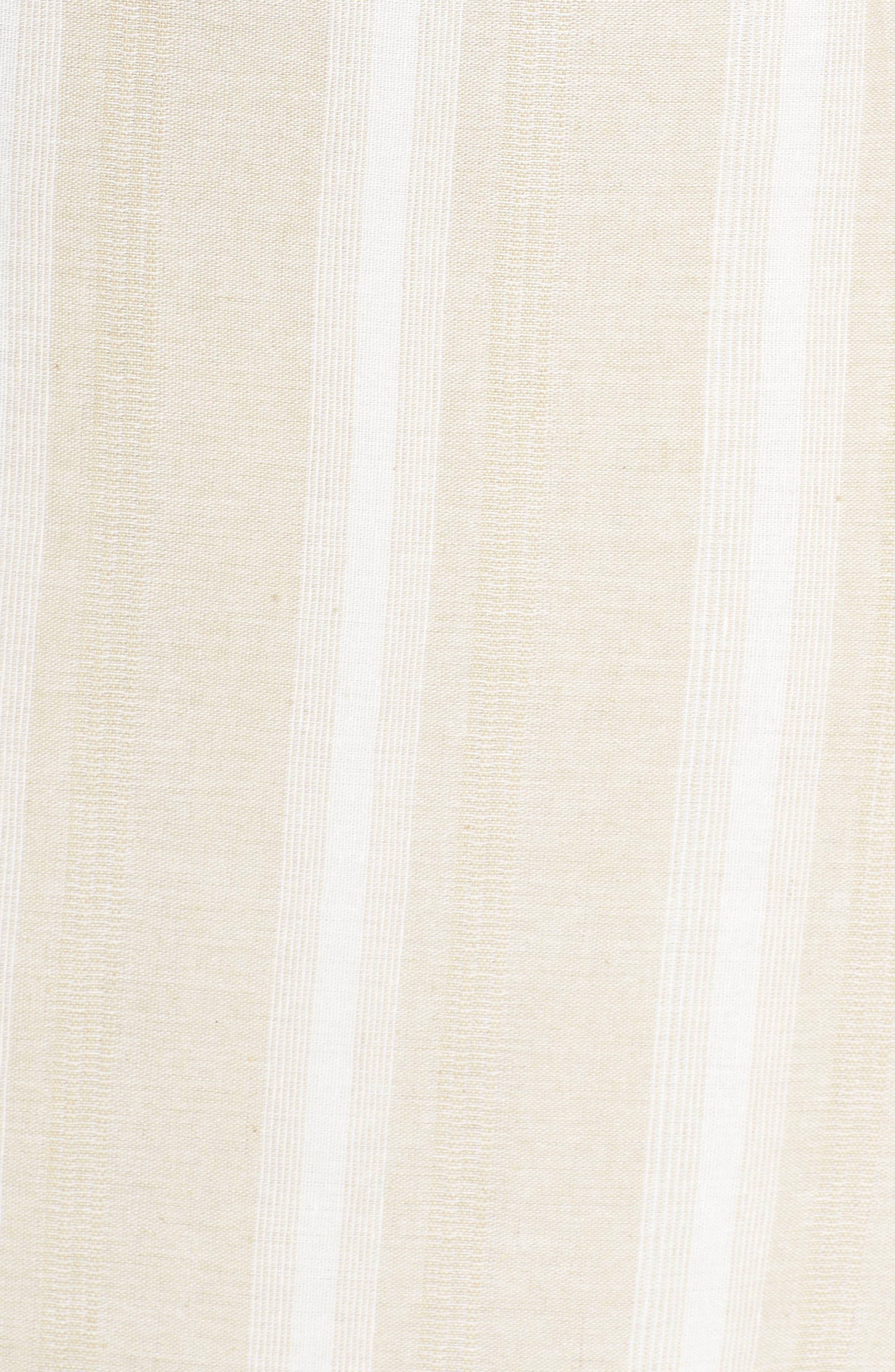 Peekabo Stripe Midi Dress,                             Alternate thumbnail 6, color,                             Sand