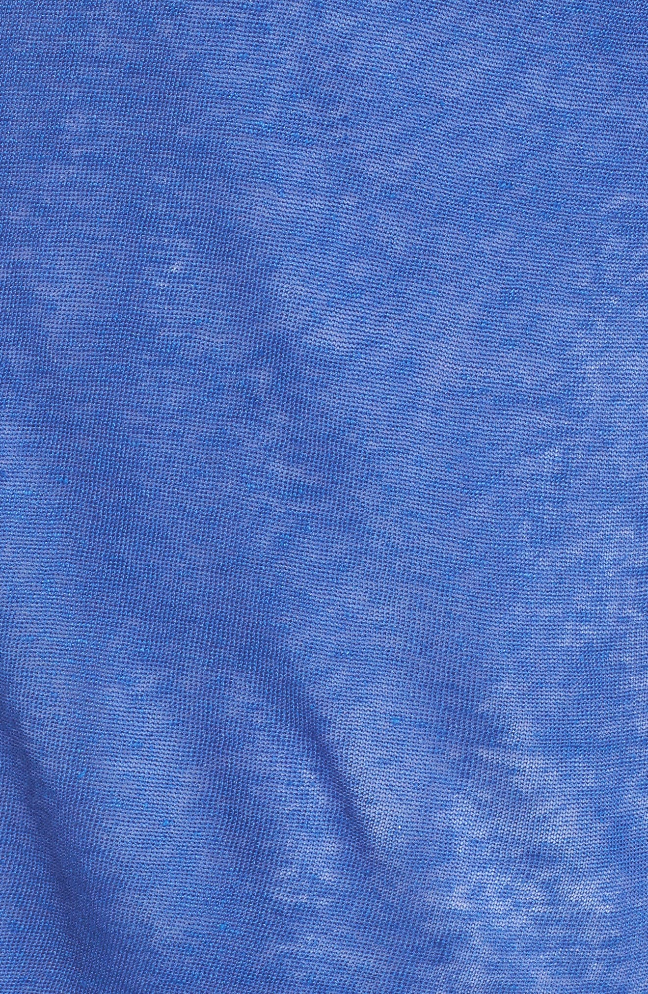 Crochet Trim Linen Blend Cardigan,                             Alternate thumbnail 5, color,                             Ultramarine