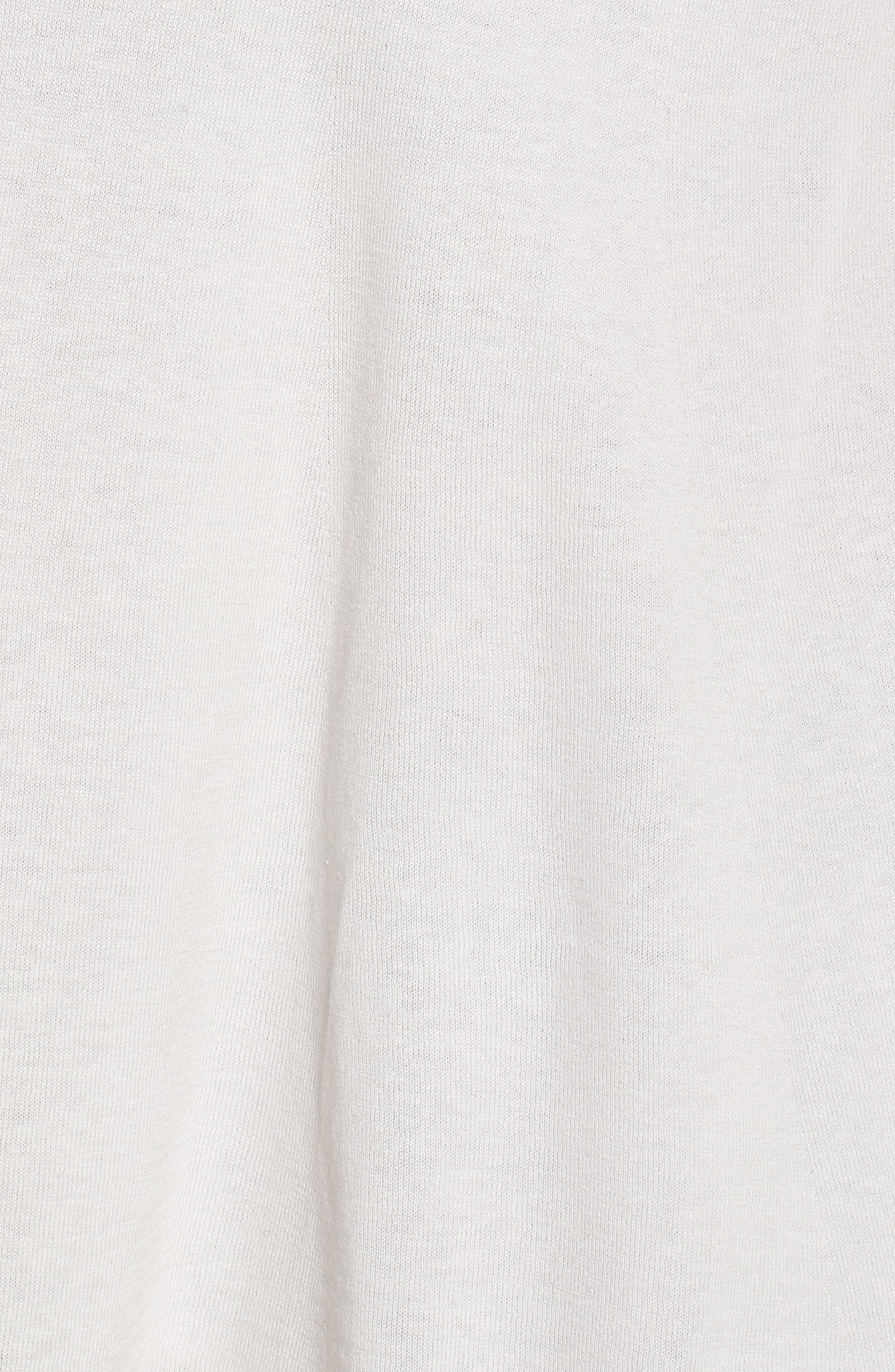 Silk & Organic Linen Long Cardigan,                             Alternate thumbnail 5, color,                             Bone
