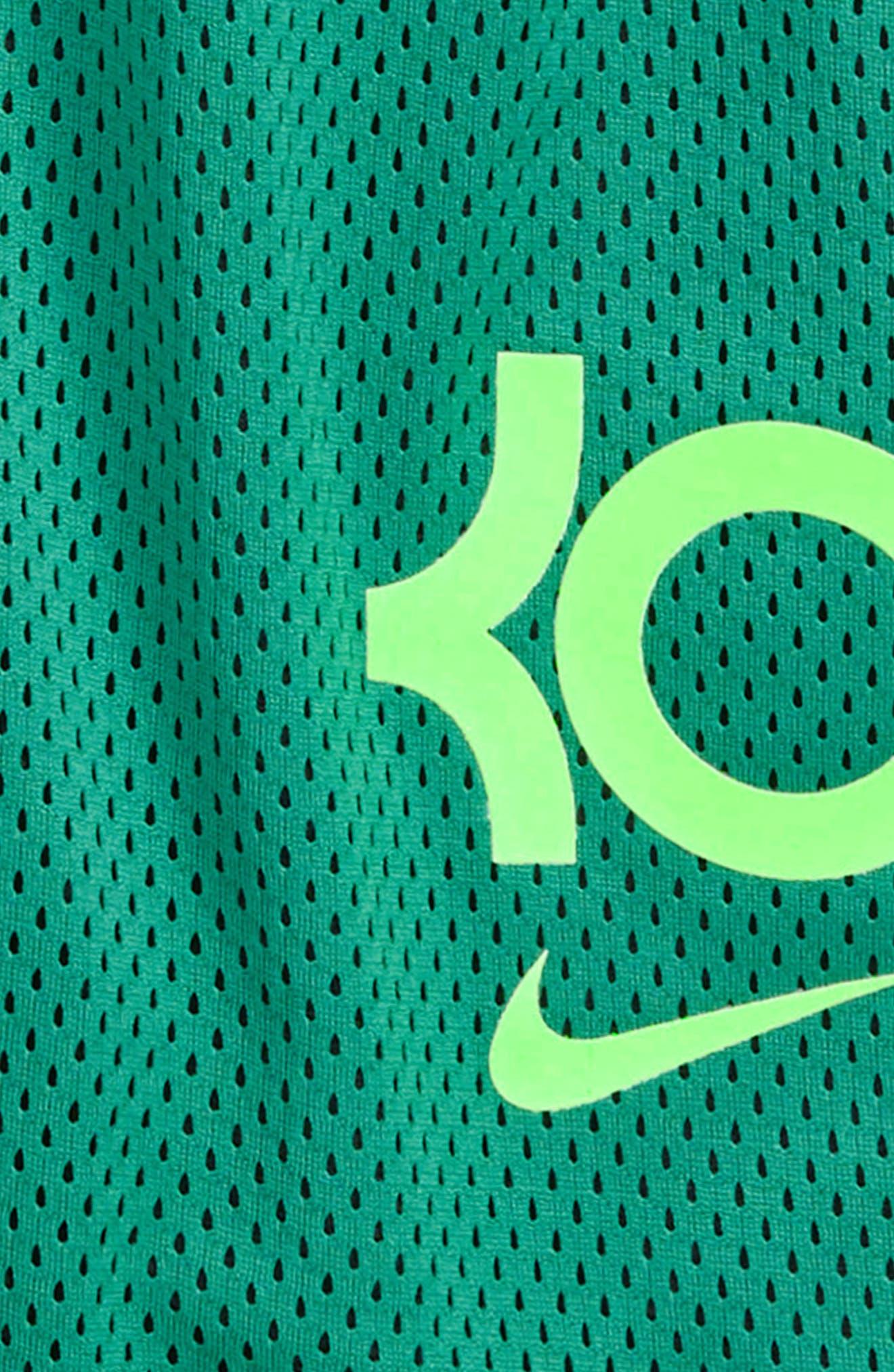 KD GFX Shorts,                             Alternate thumbnail 2, color,                             Green Noise/ Green Strike