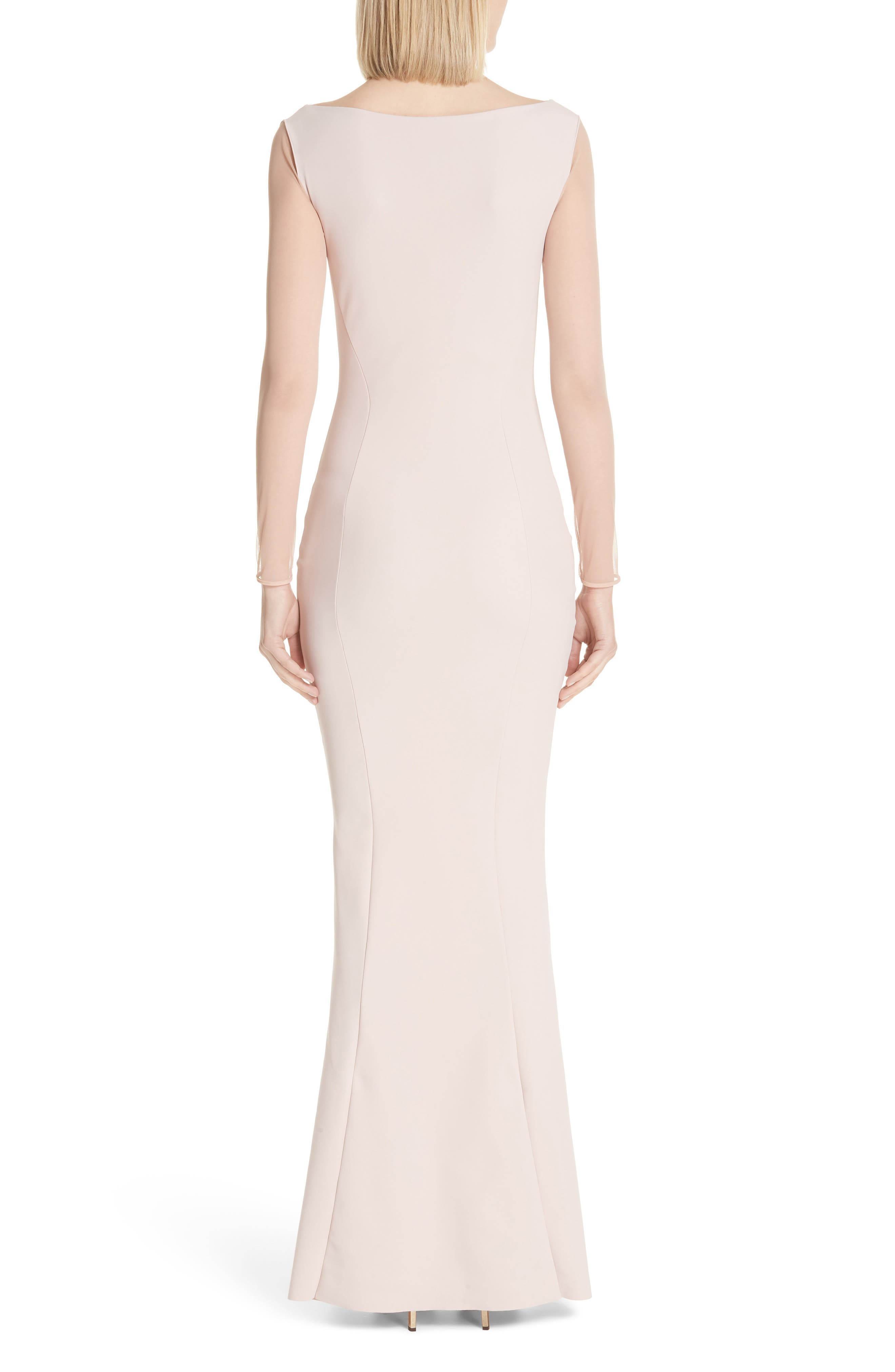 Abros Illusion Trumpet Gown,                             Alternate thumbnail 2, color,                             Nude