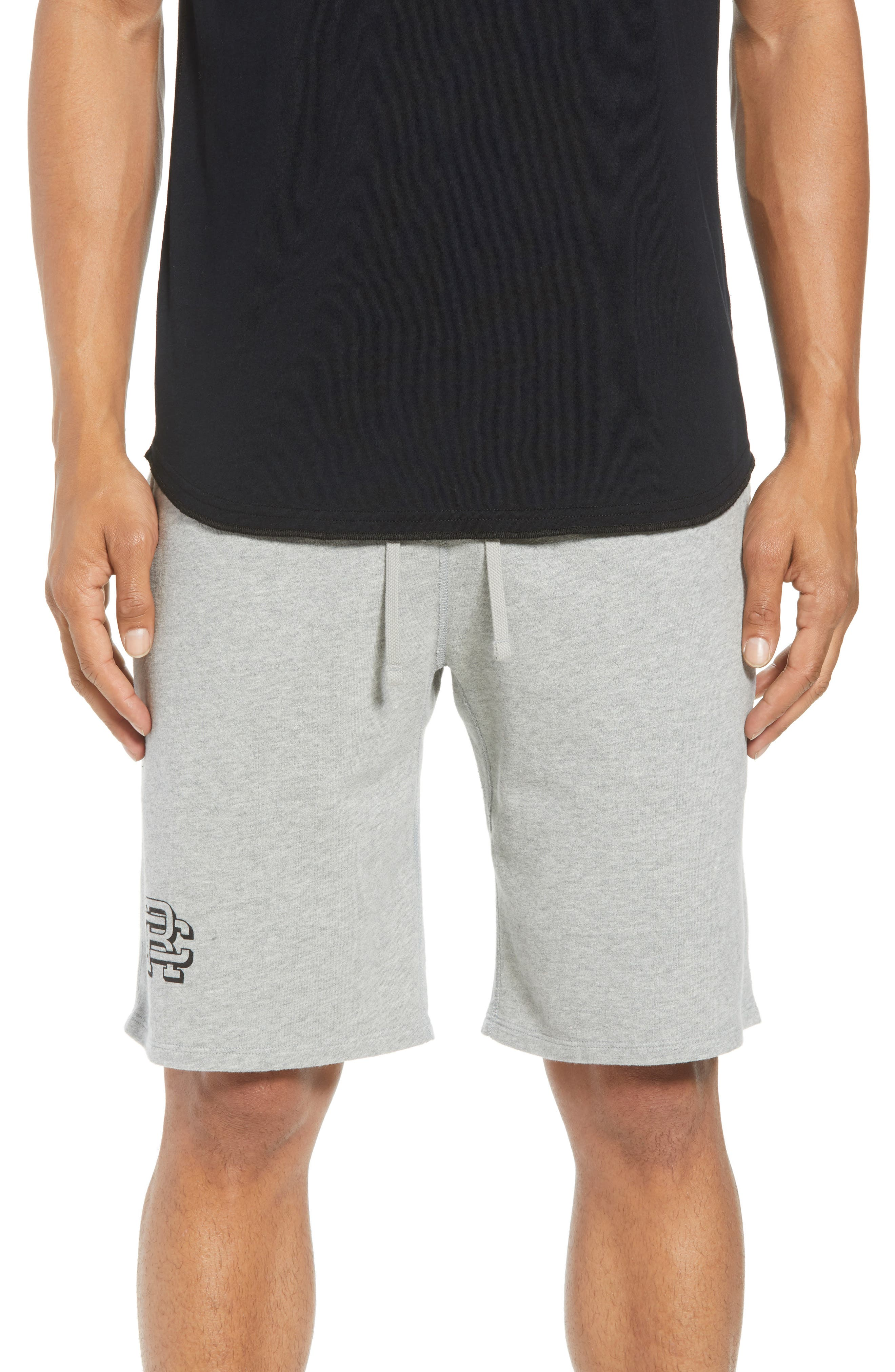 REIGNING CHAMP Shorts Lightweight Classic Fit Knit Shorts in Heather Grey
