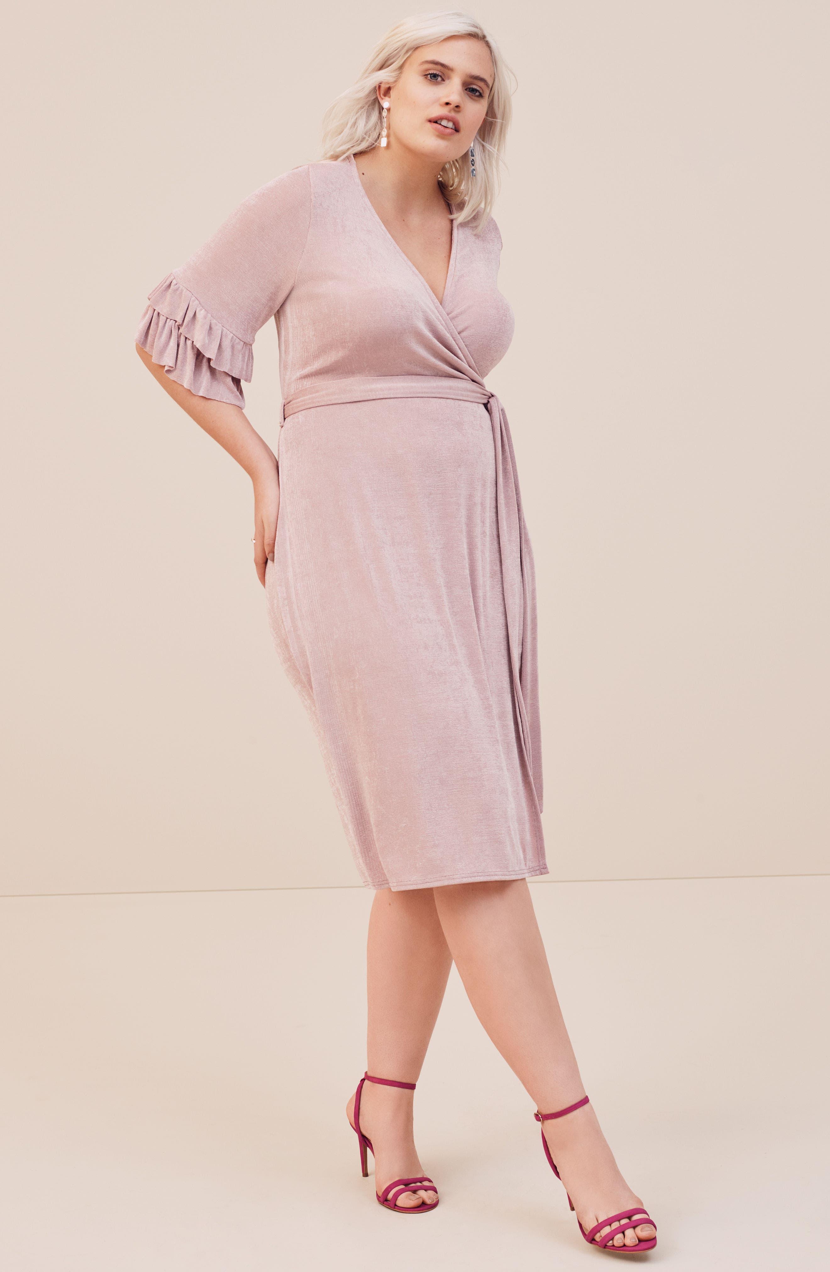 Wrap Dress,                             Alternate thumbnail 8, color,