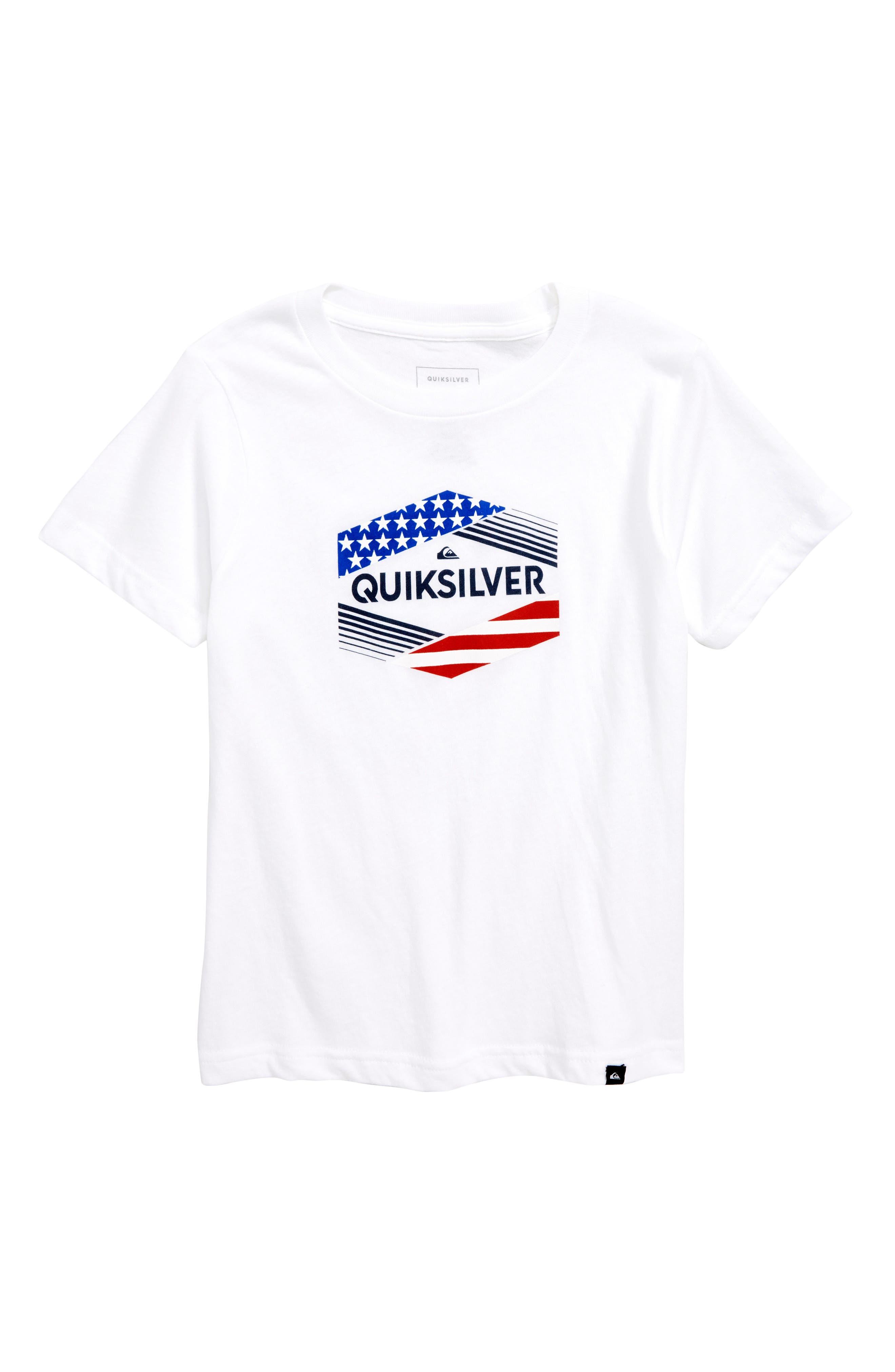 Quiksilver Stars & Stripes Graphic T-Shirt (Toddler Boys & Little Boys)