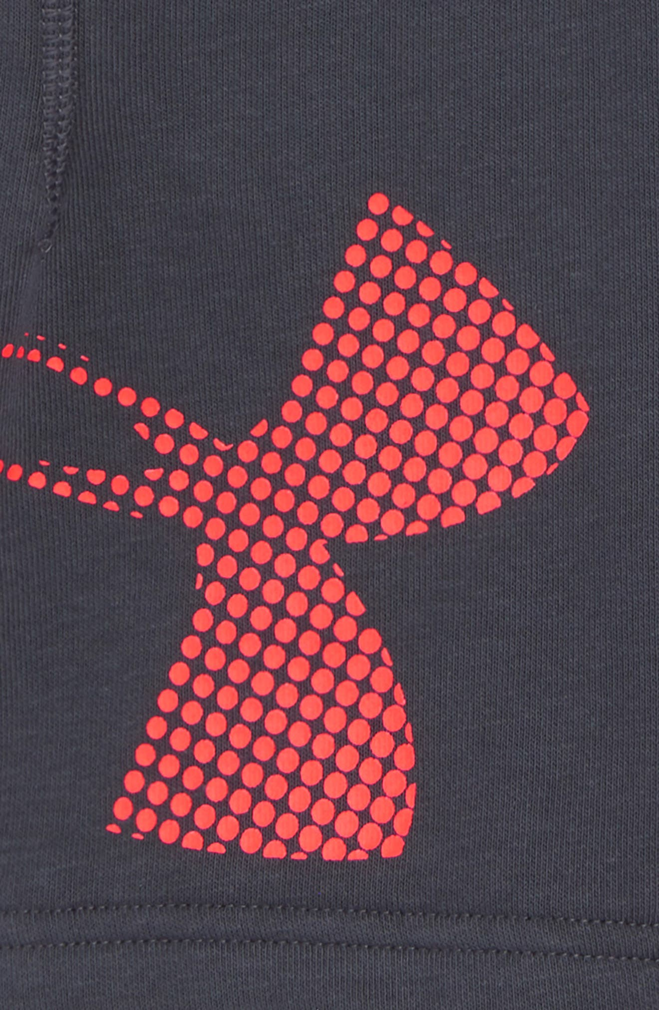 Graphic Knit Shorts,                             Alternate thumbnail 2, color,                             Stealth Gray/ Neon Coral