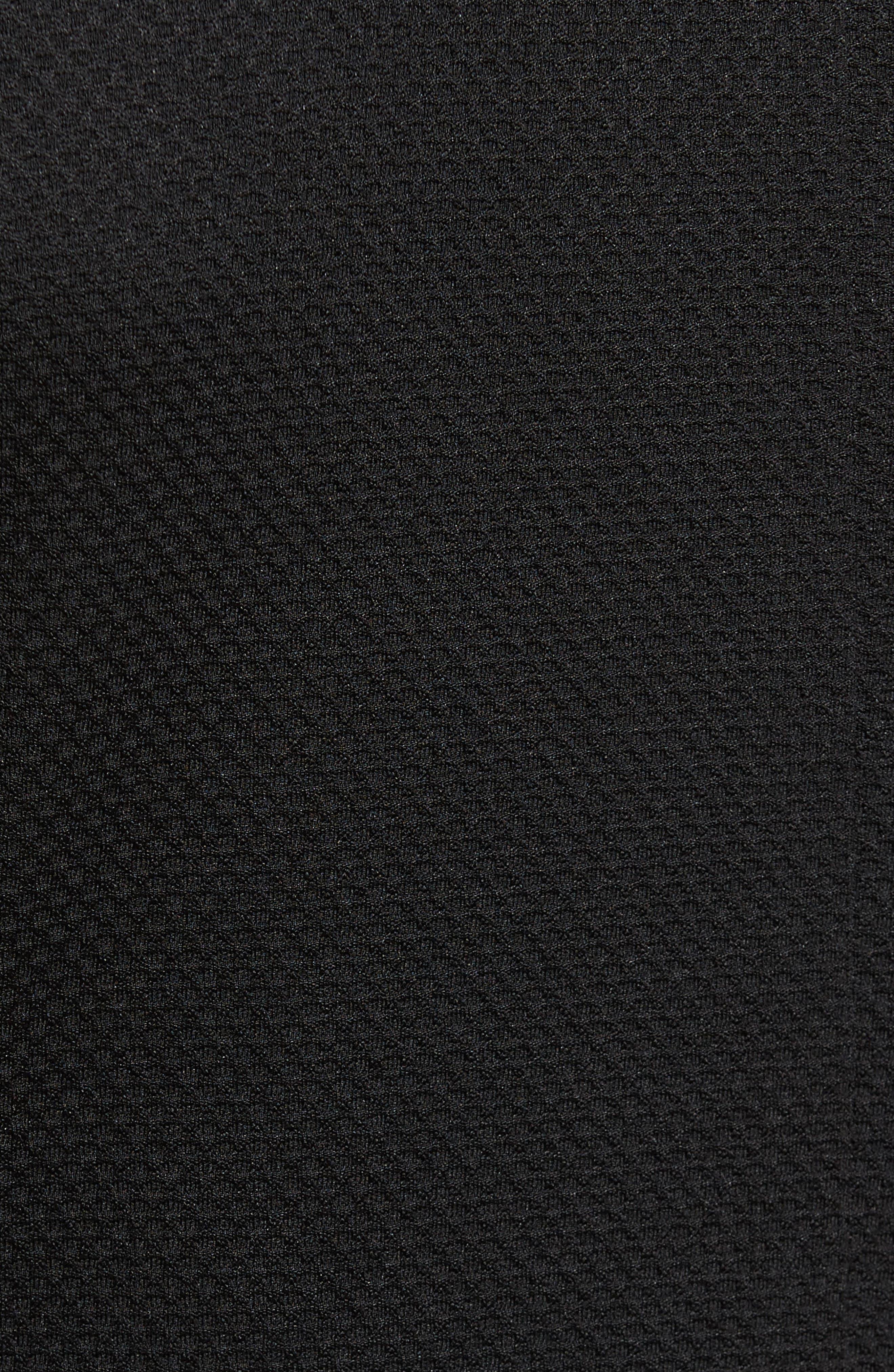 Slim Fit Stretch Knit Blazer,                             Alternate thumbnail 5, color,                             Black