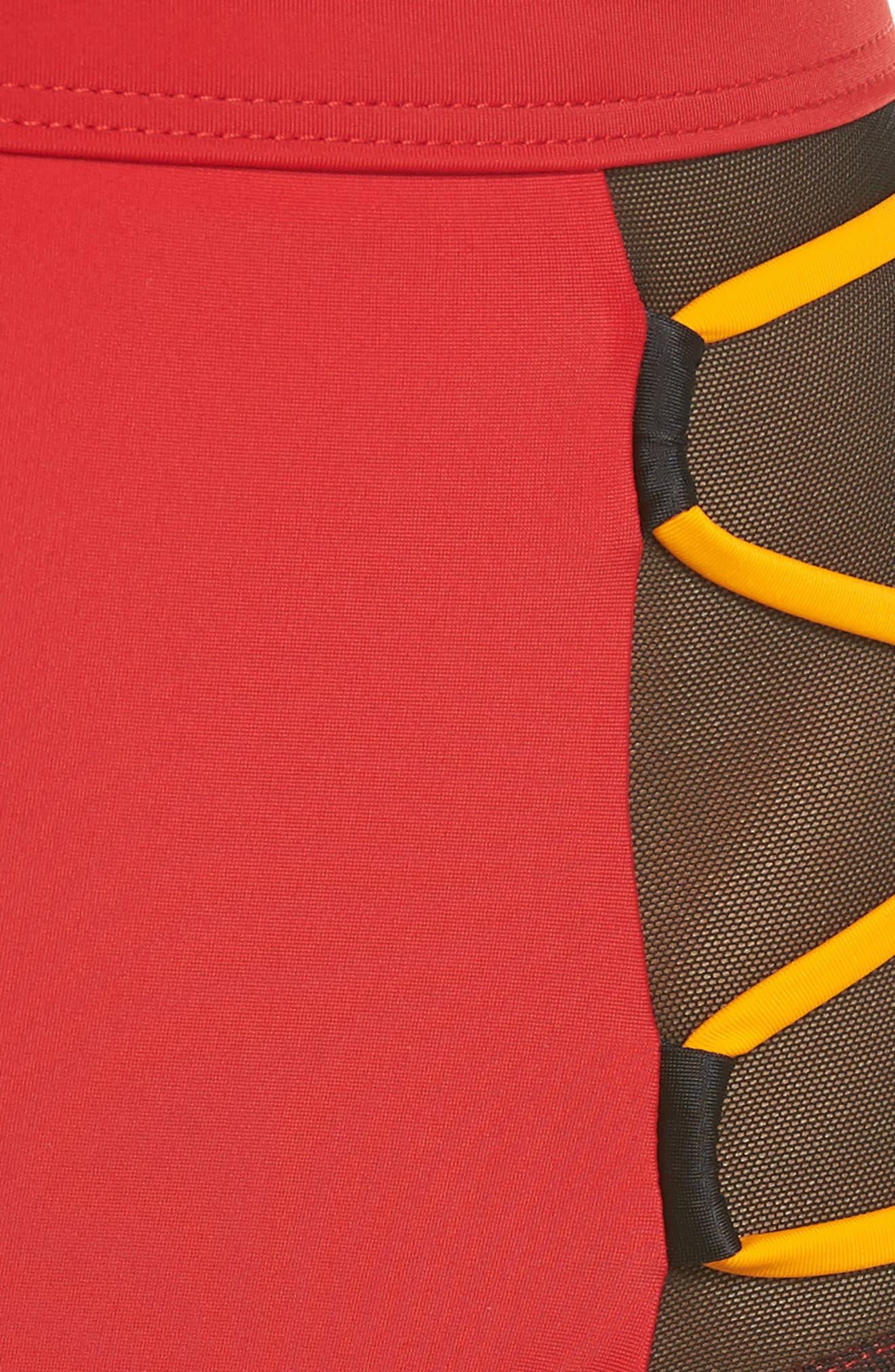 Launch Bikini Bottoms,                             Alternate thumbnail 5, color,                             Red/ Black/ Orange