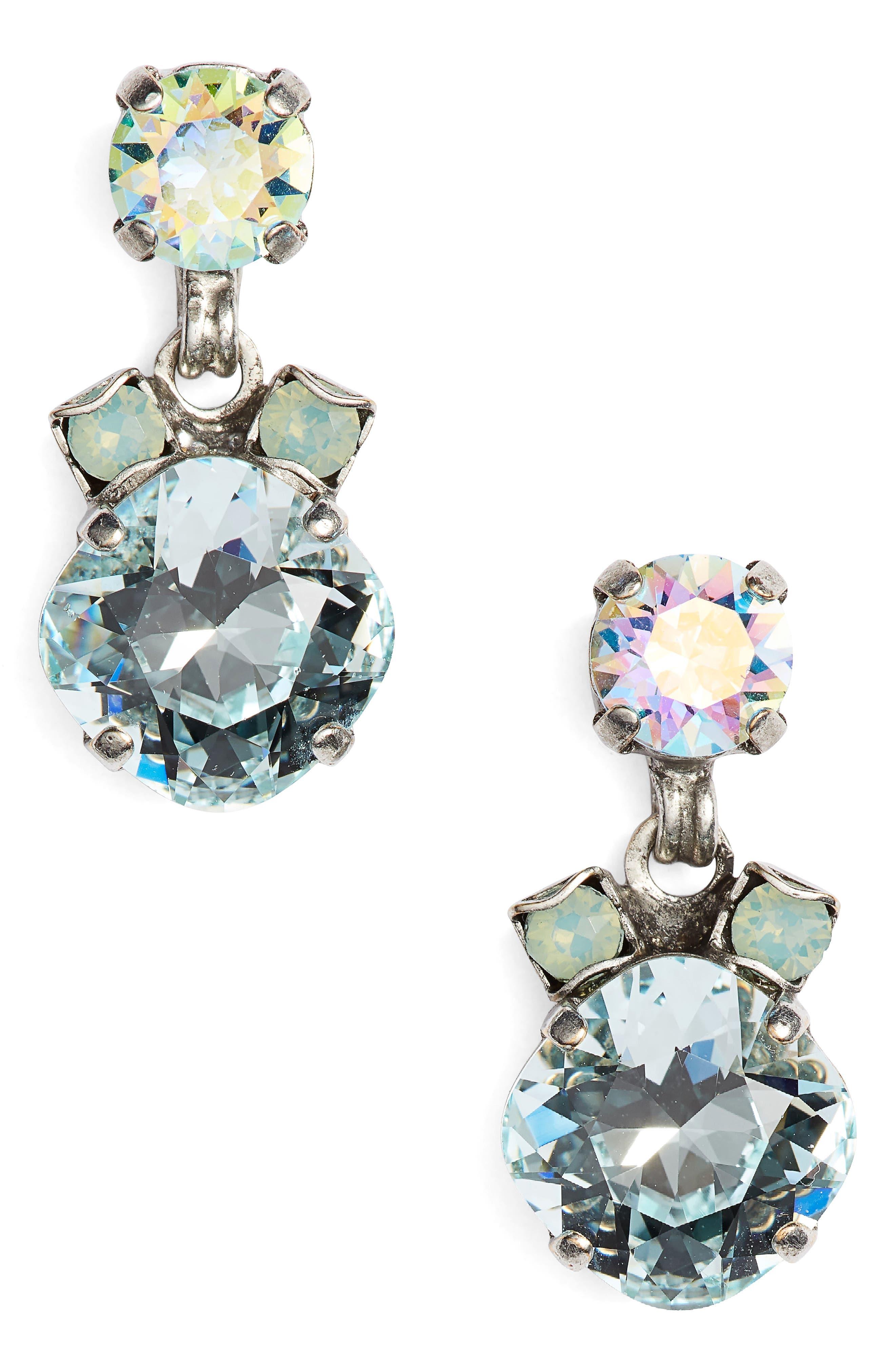 Balsam Crystal Drop Earrings,                         Main,                         color, Blue-Green