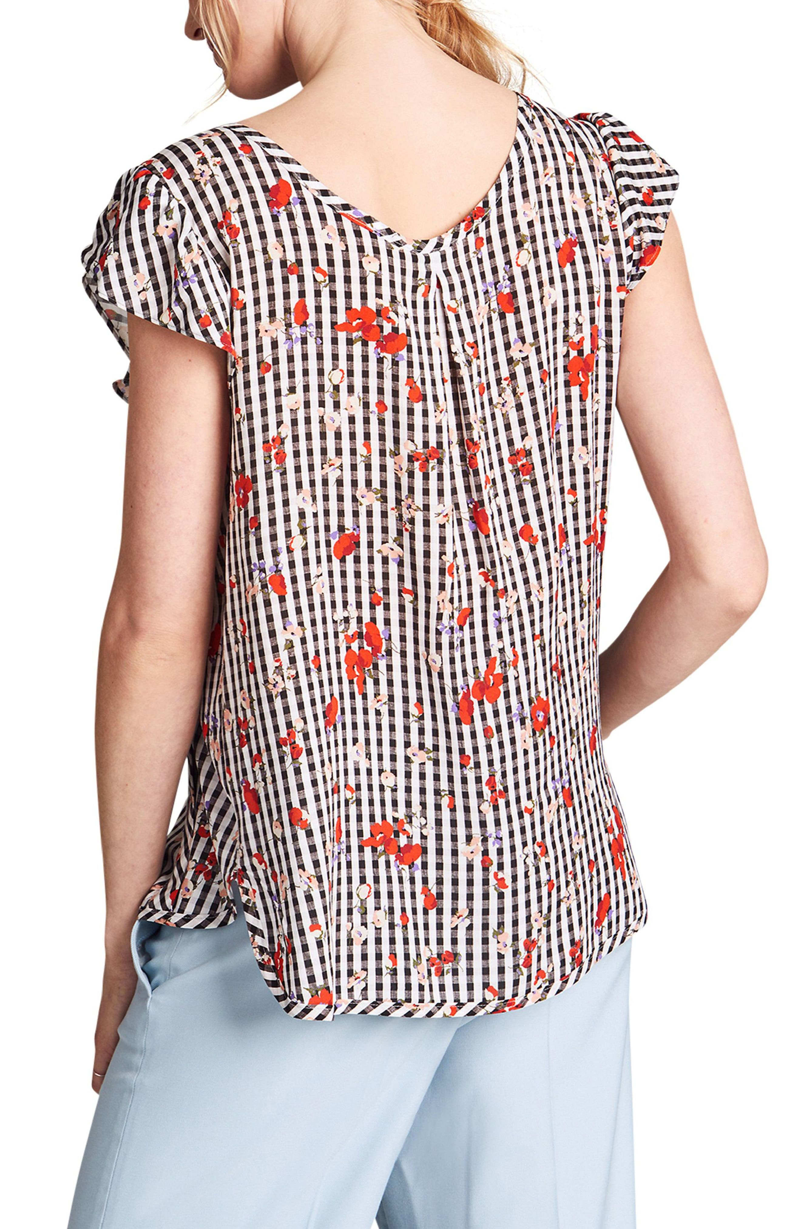 Audrey Nursing Top,                             Alternate thumbnail 2, color,                             Floral Print