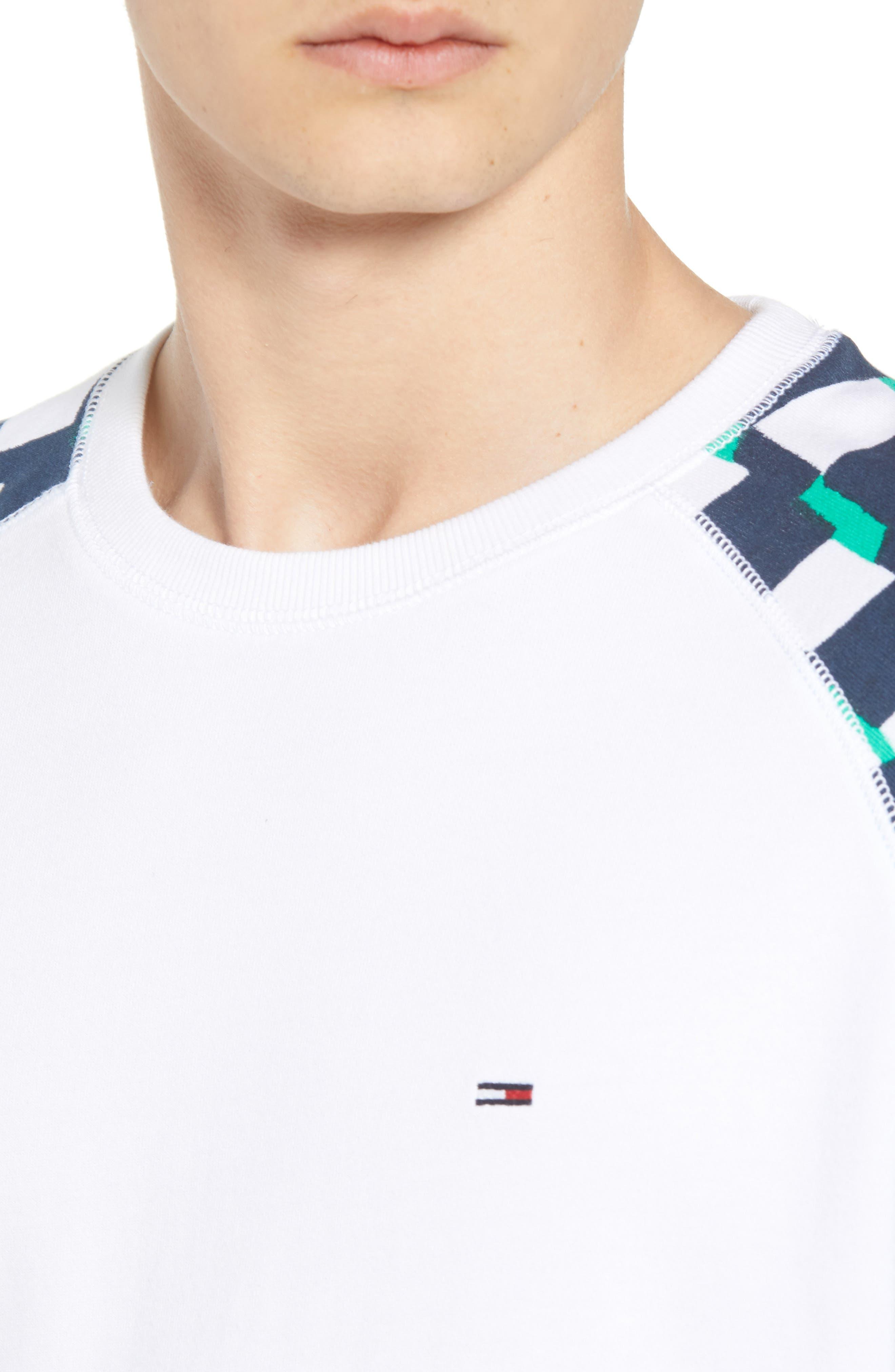 Racing Logo Sweatshirt,                             Alternate thumbnail 4, color,                             Classic White / Checker