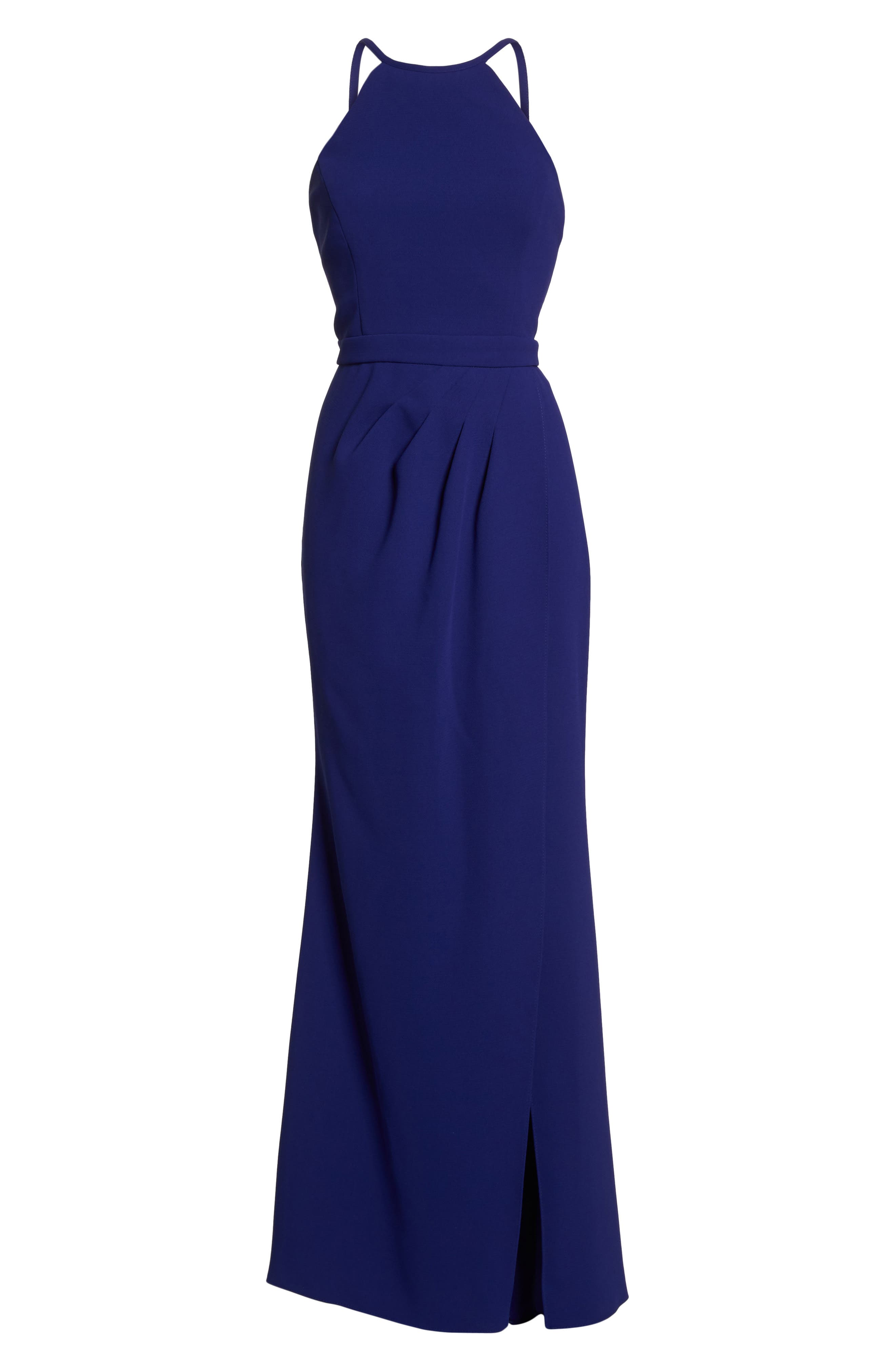 High Neck Gown,                             Alternate thumbnail 6, color,                             Royal