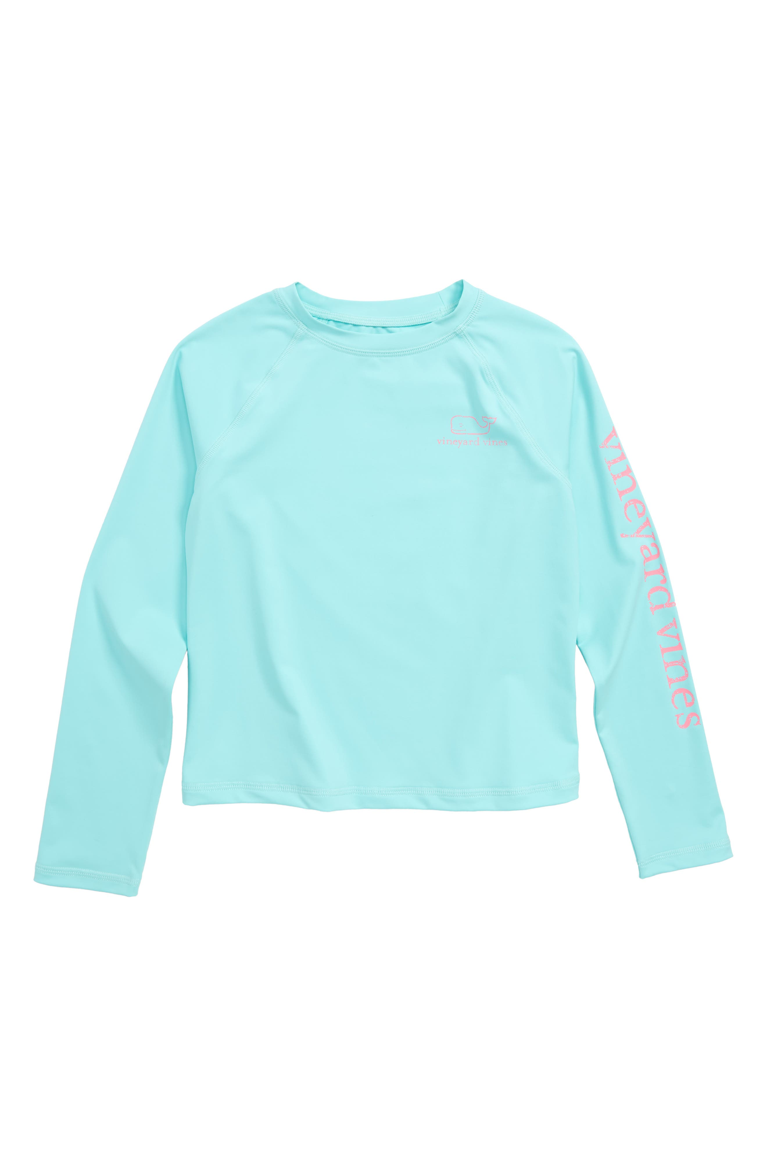 vineyard vines Vintage Whale Long Sleeve Rashguard (Toddler Girls, Little Girls & Big Girls)