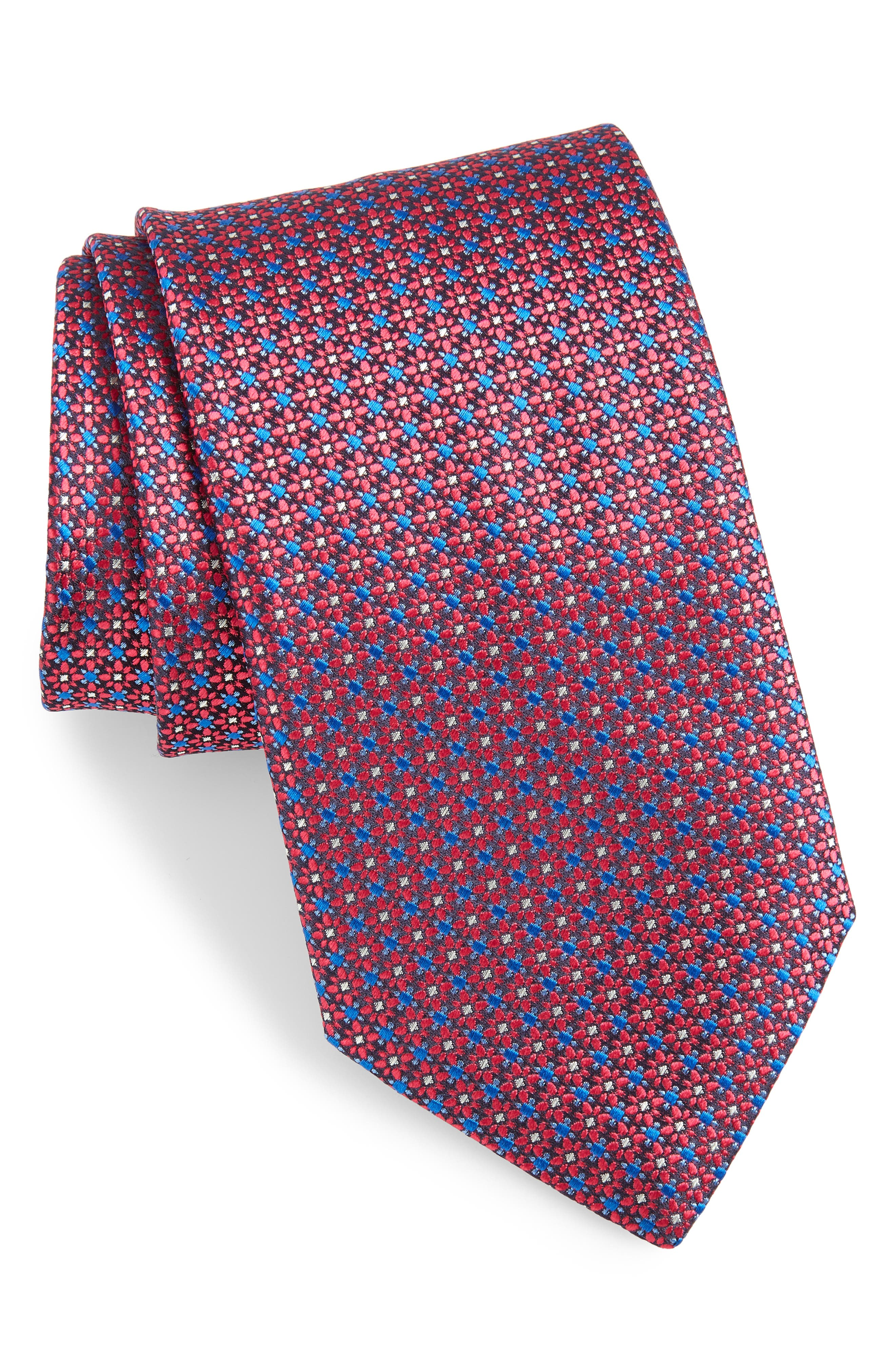 Canali Floral Silk Tie (X-Long)